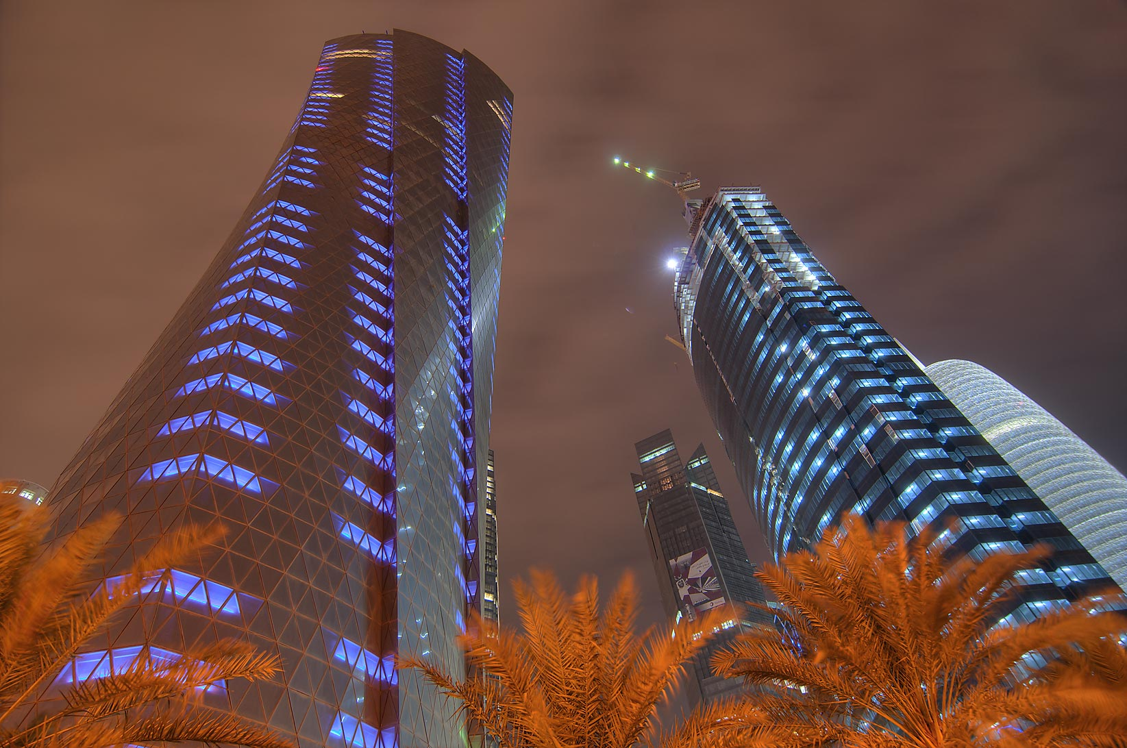 Al Bidda Tower and World Trade Center Tower and Complex (WTC) in West Bay. Doha, Qatar