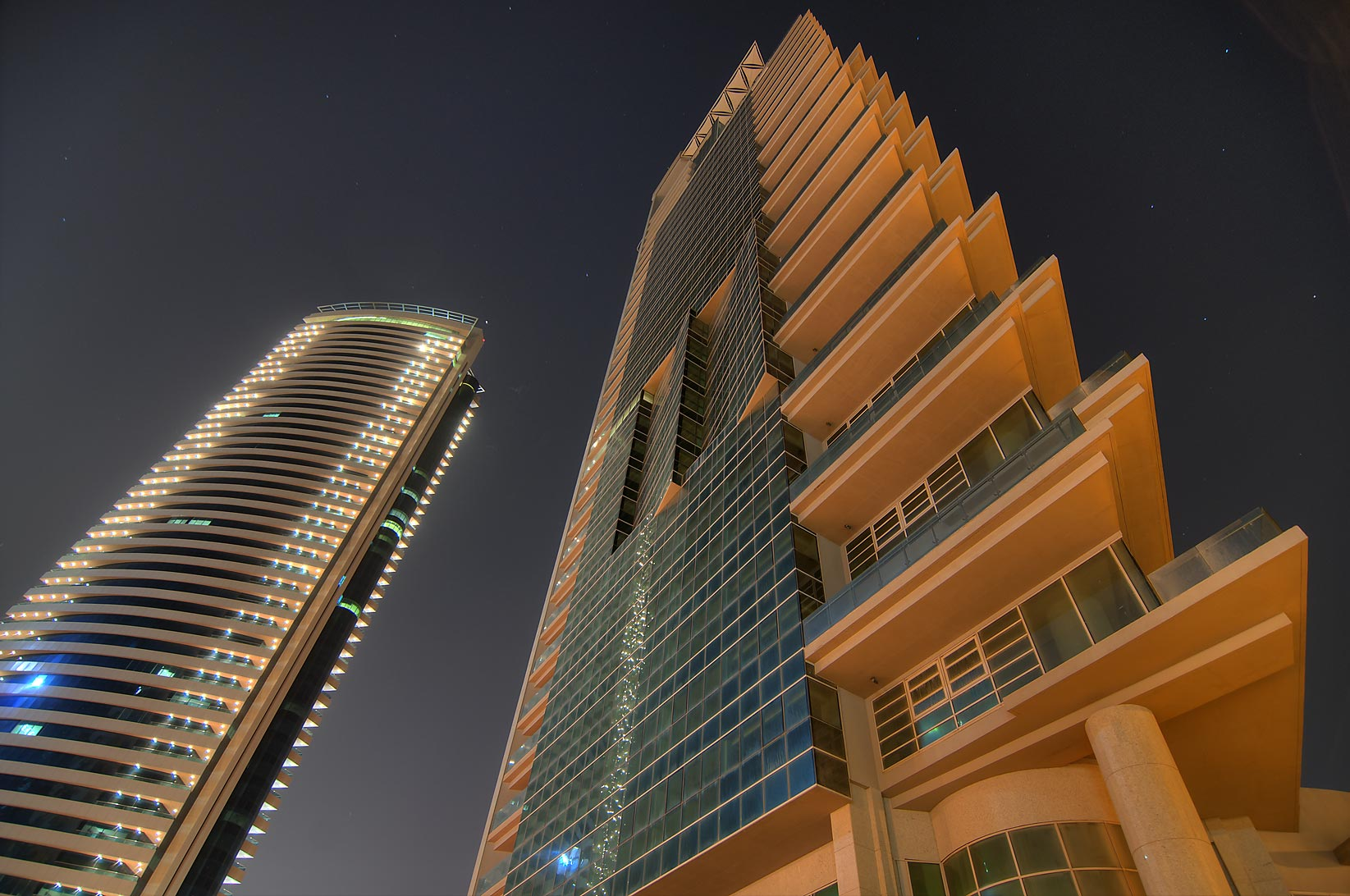 44 West Bay and Al Rayyan buildings in Diplomatic District. Doha, Qatar