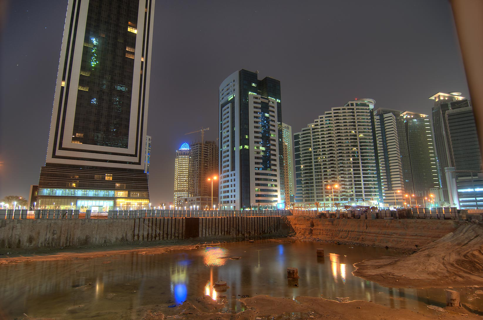 Al Sara Tower, Regency Residence, and Beverly...foreground, in West Bay. Doha, Qatar