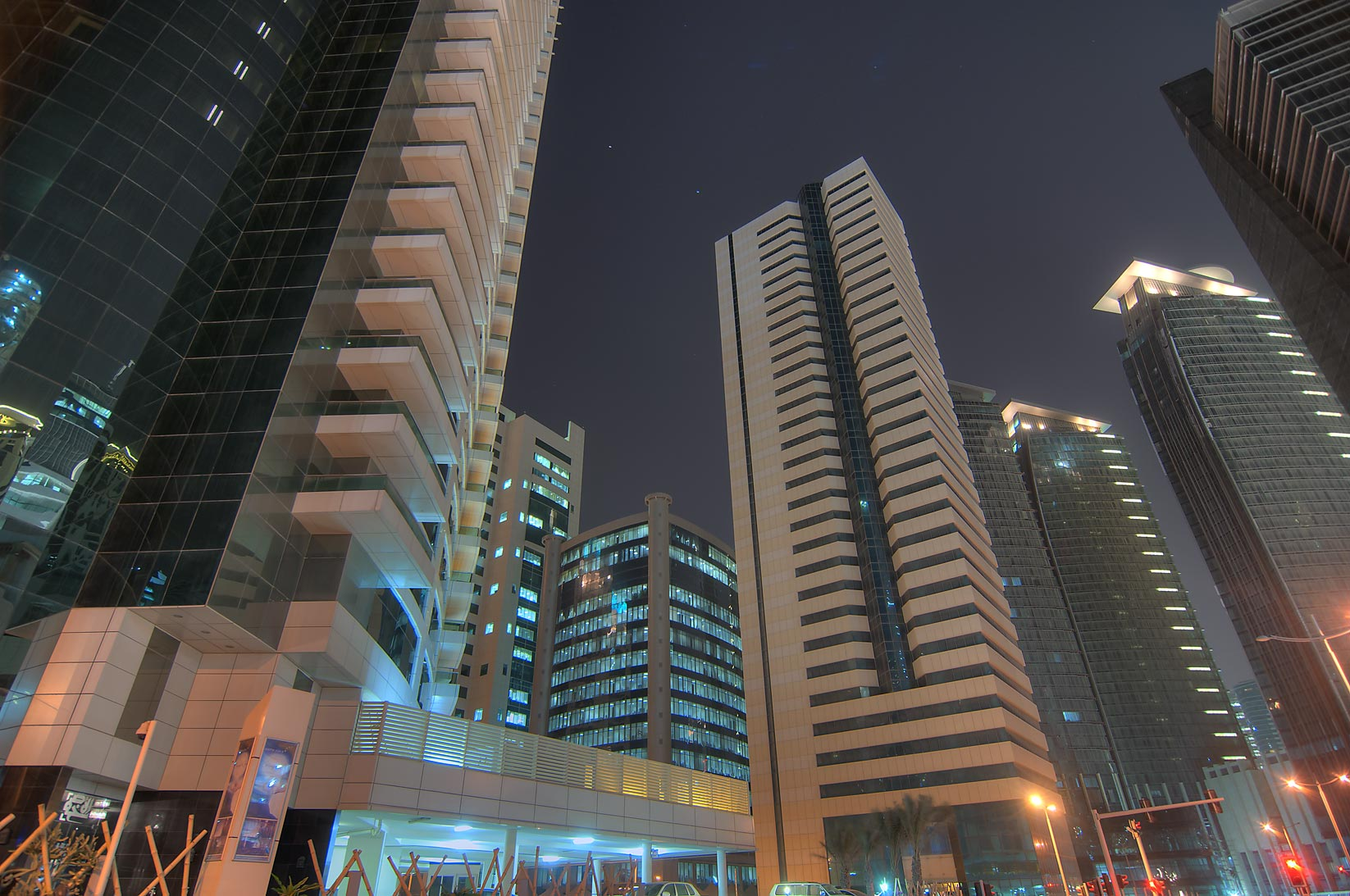 View from a base of Culligan/Everpure Tower in West Bay. Doha, Qatar
