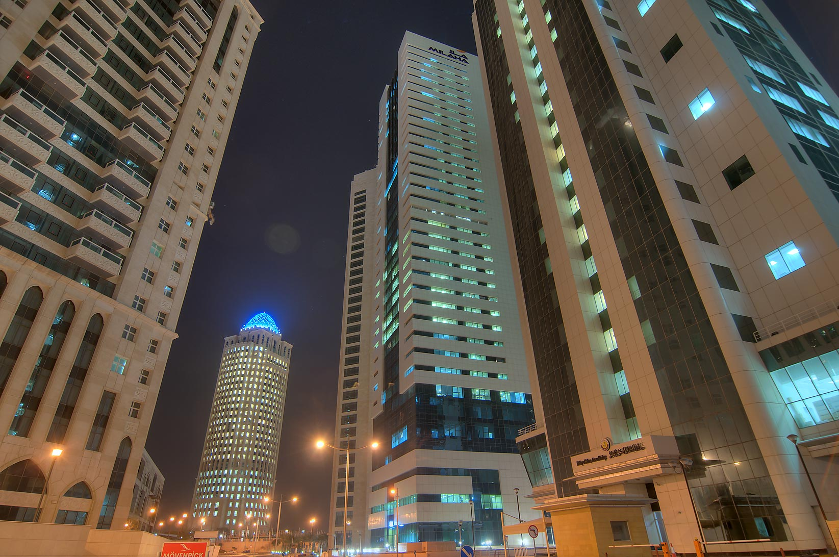 View of QTel Tower from West Bay. Doha, Qatar