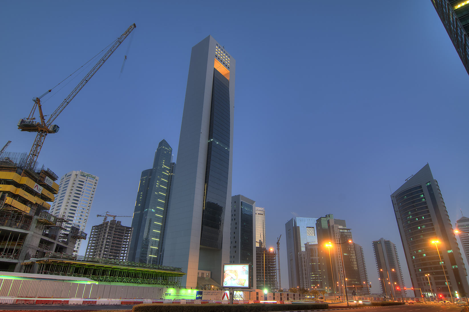 Al Faisal Tower in West Bay. Doha, Qatar
