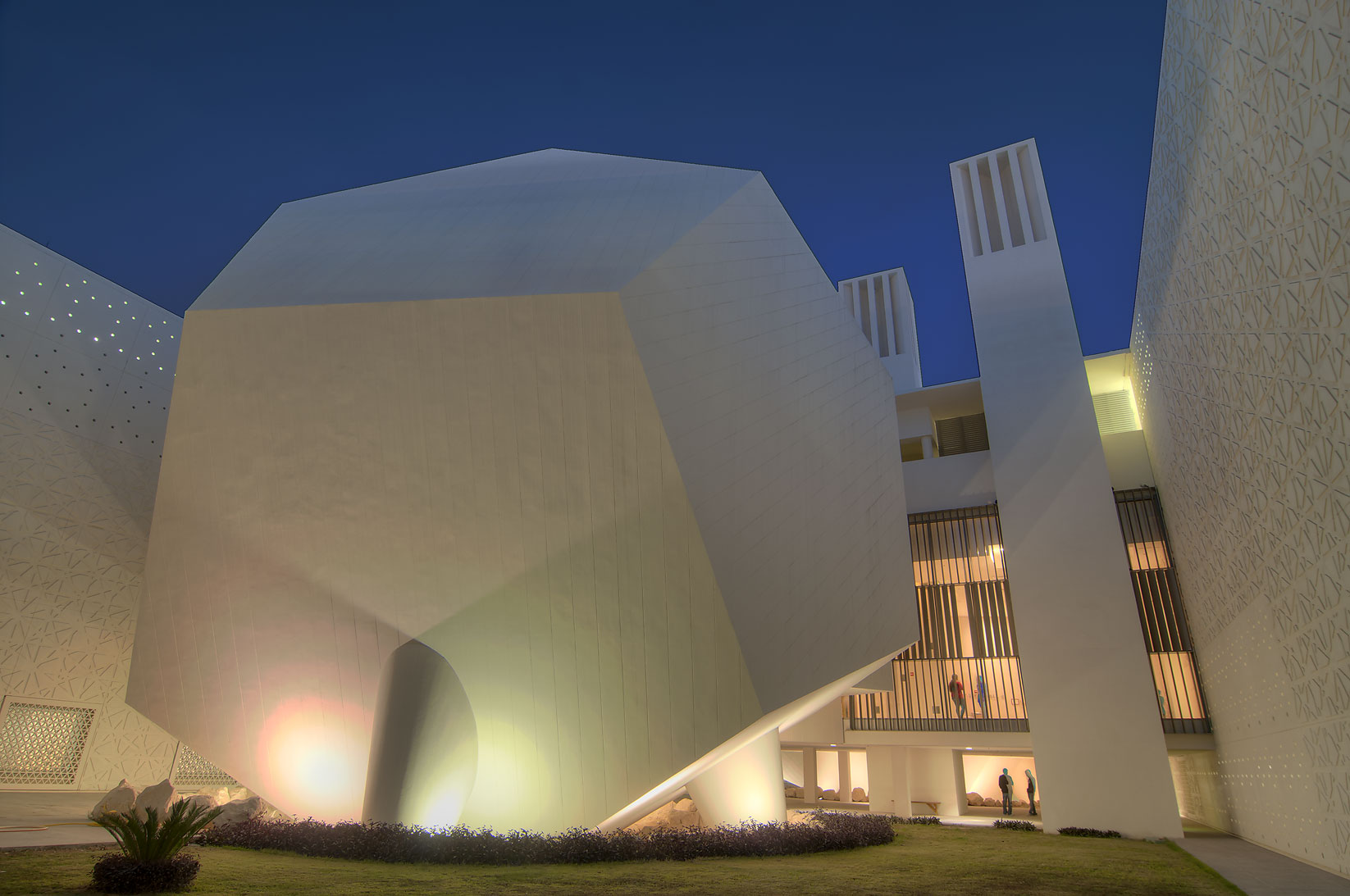 Dodecahedron lecture hall of Weill Cornell...in Education City campus. Doha, Qatar