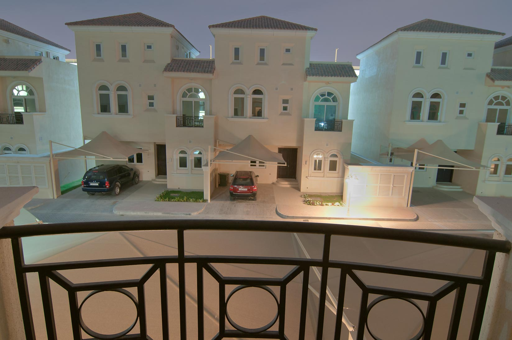 View from a balcony of Apartment 7A5 of Dar Al Salam Compound. Doha, Qatar