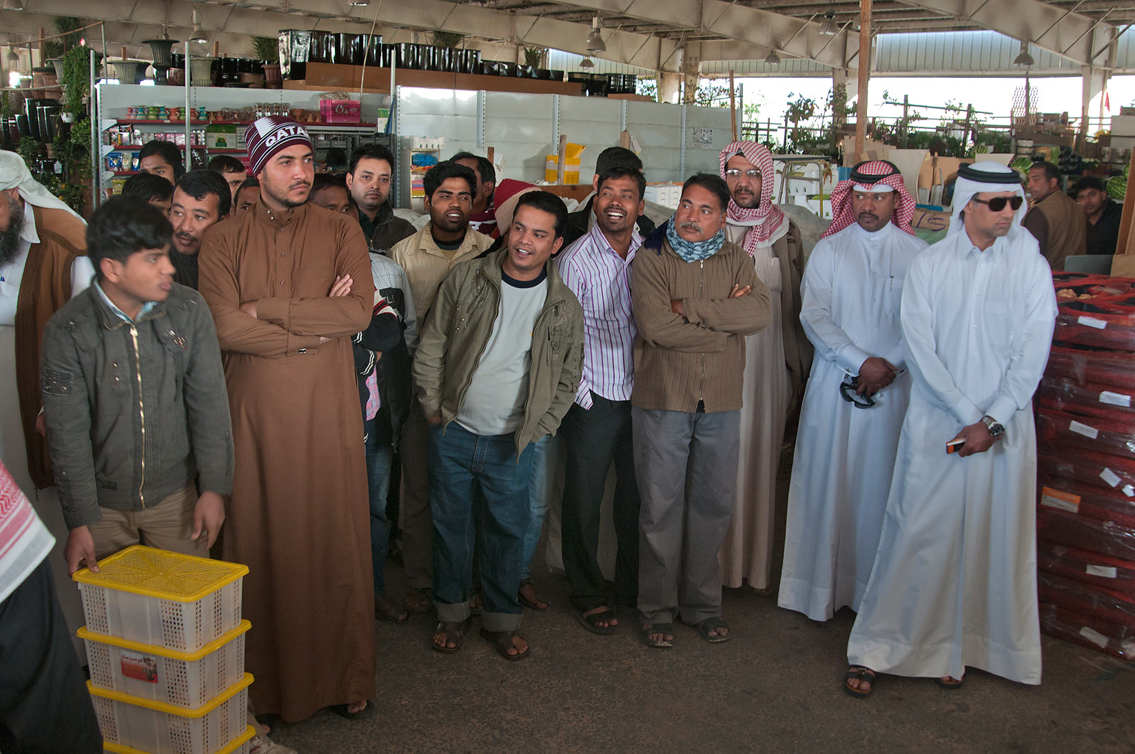 Truffle auction in Omani Market. Doha, Qatar