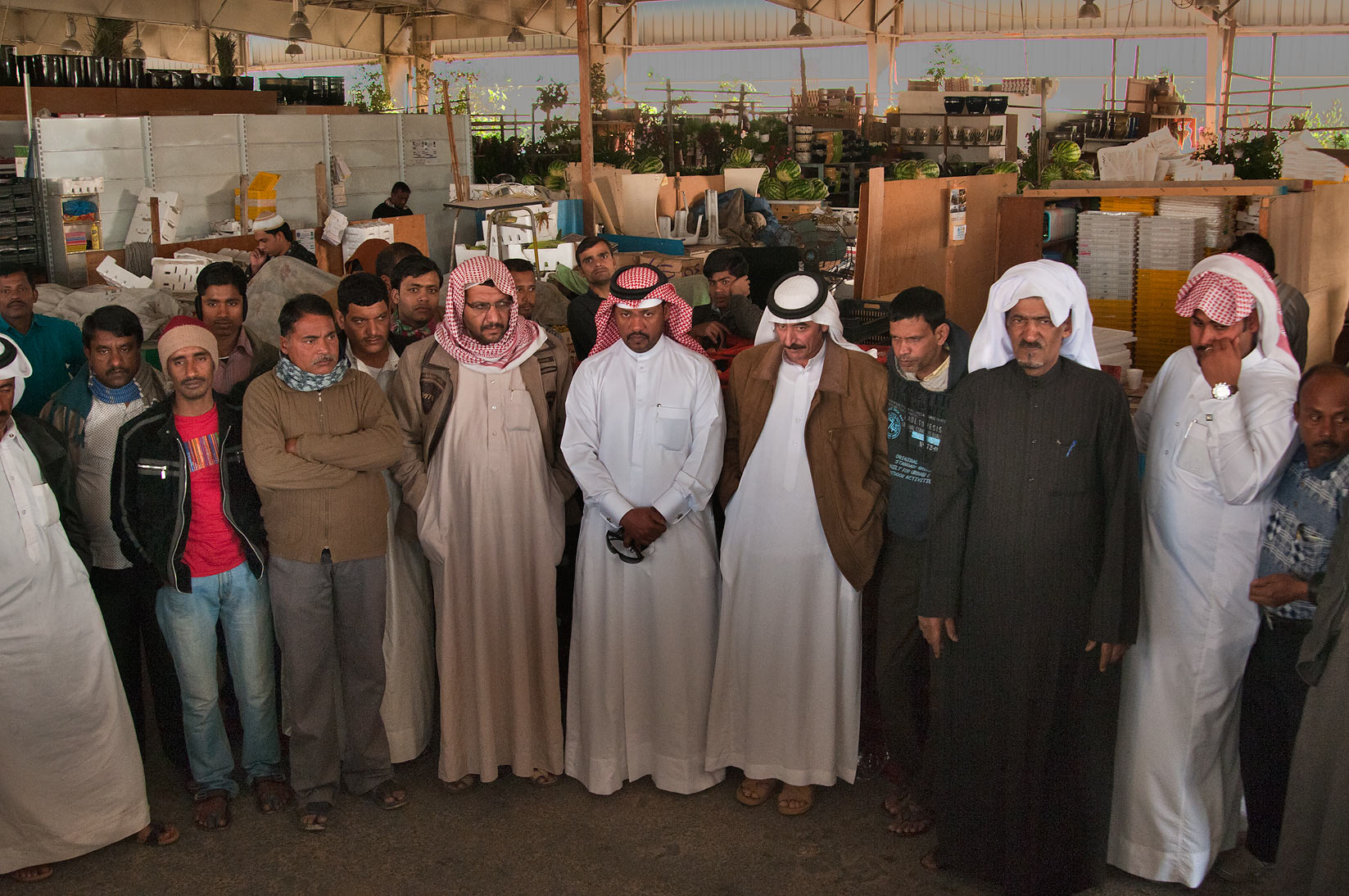 Desert truffle auction in Omani Market. Doha, Qatar