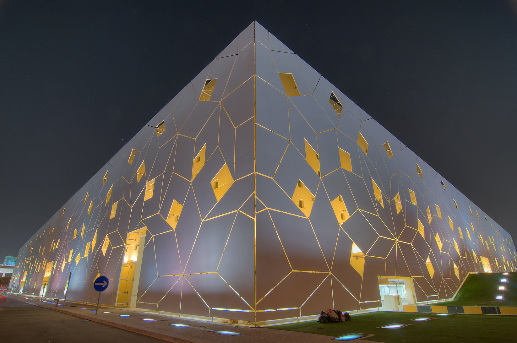 Liberal Arts and Science (LAS) building in Education City campus. Doha, Qatar