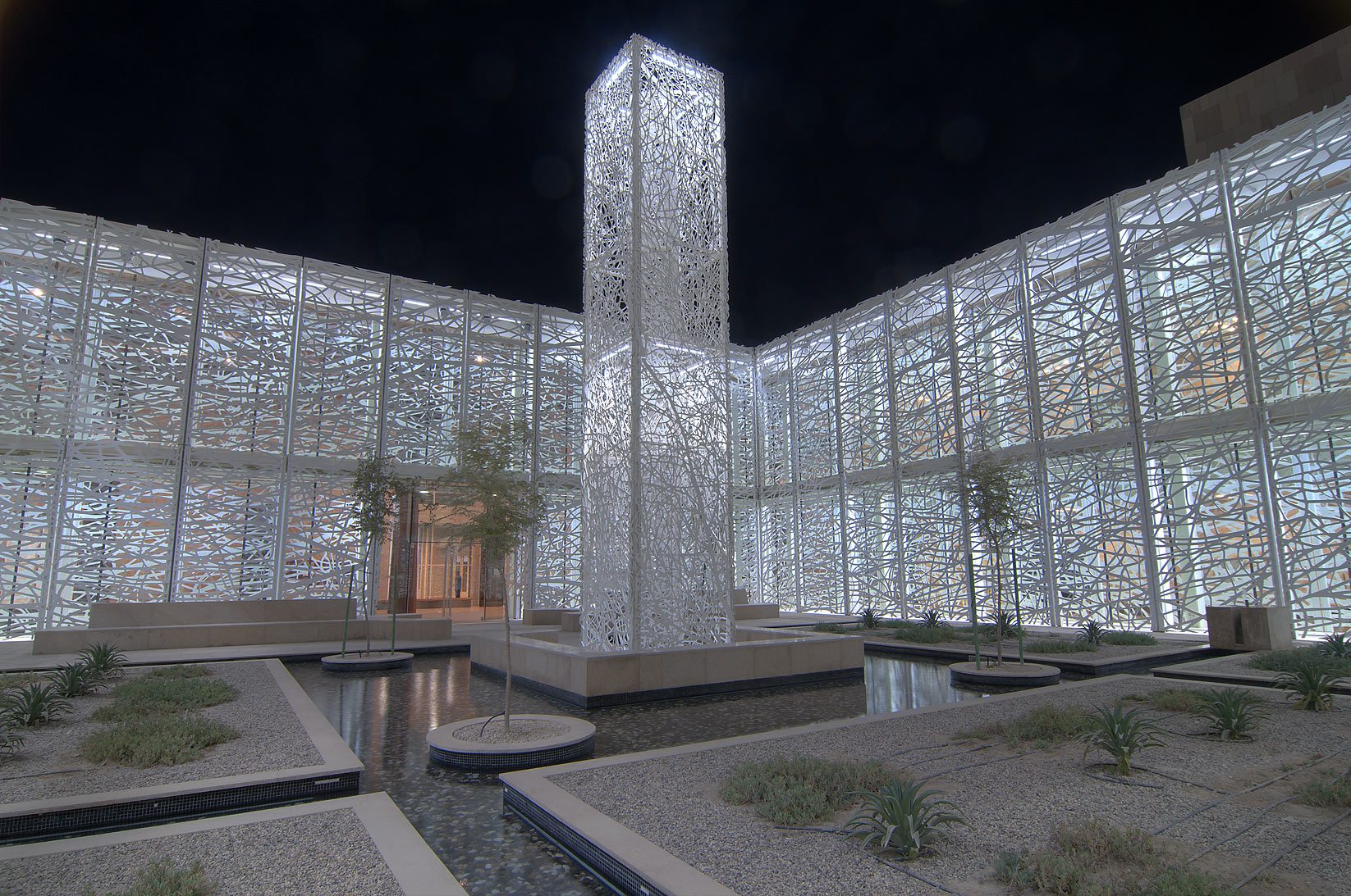 Lighted Sculpture Garden by Jan Hendrix in a...in Education City campus. Doha, Qatar