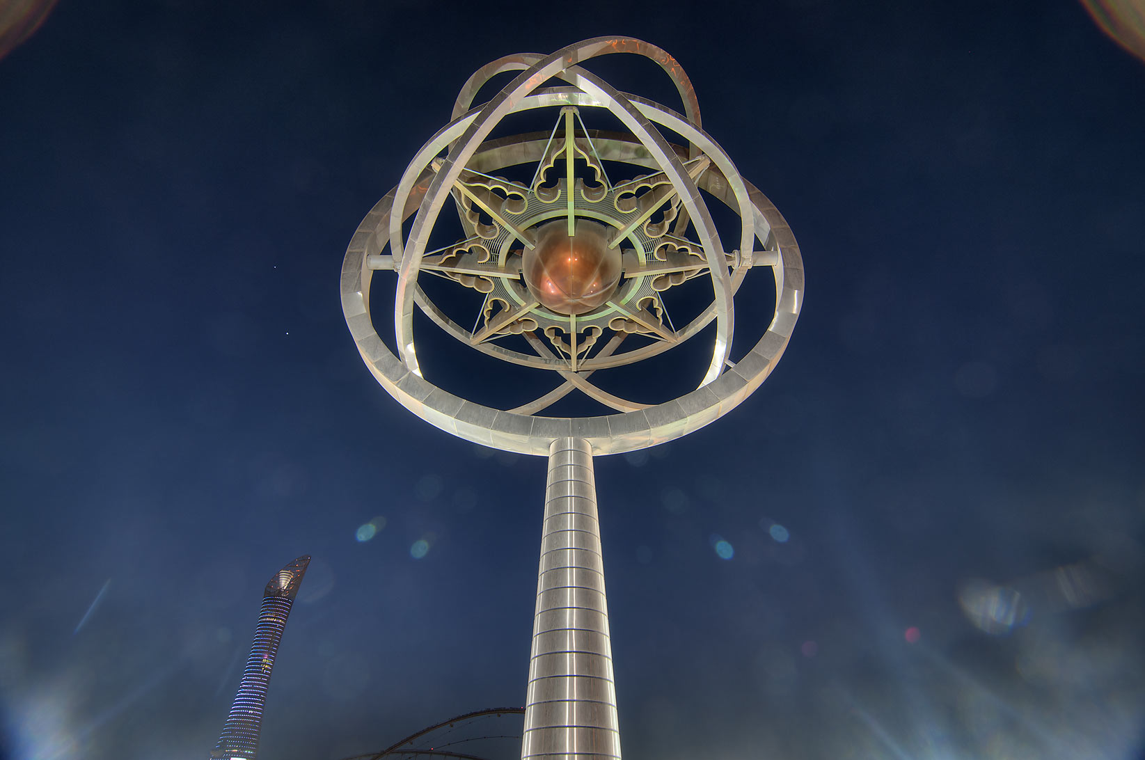 Torch model at the corner of Aspire Zone. Doha, Qatar