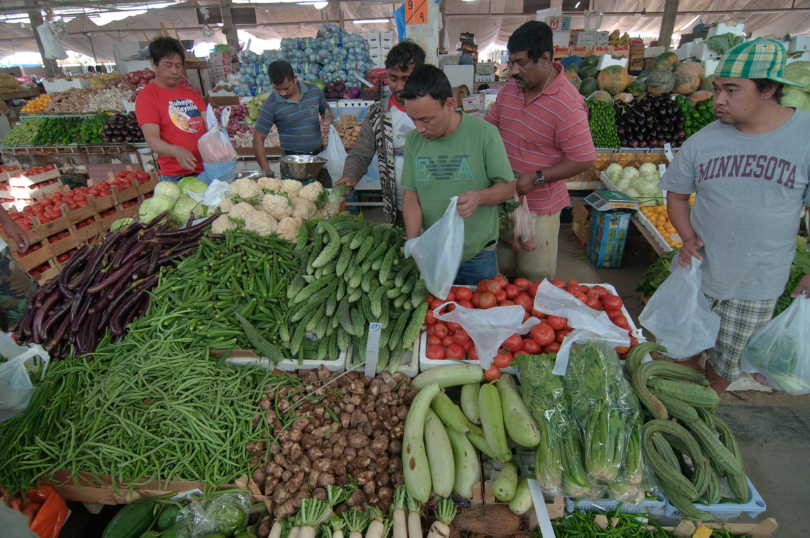 Vegetable Market in Wholesale Markets area. Doha, Qatar
