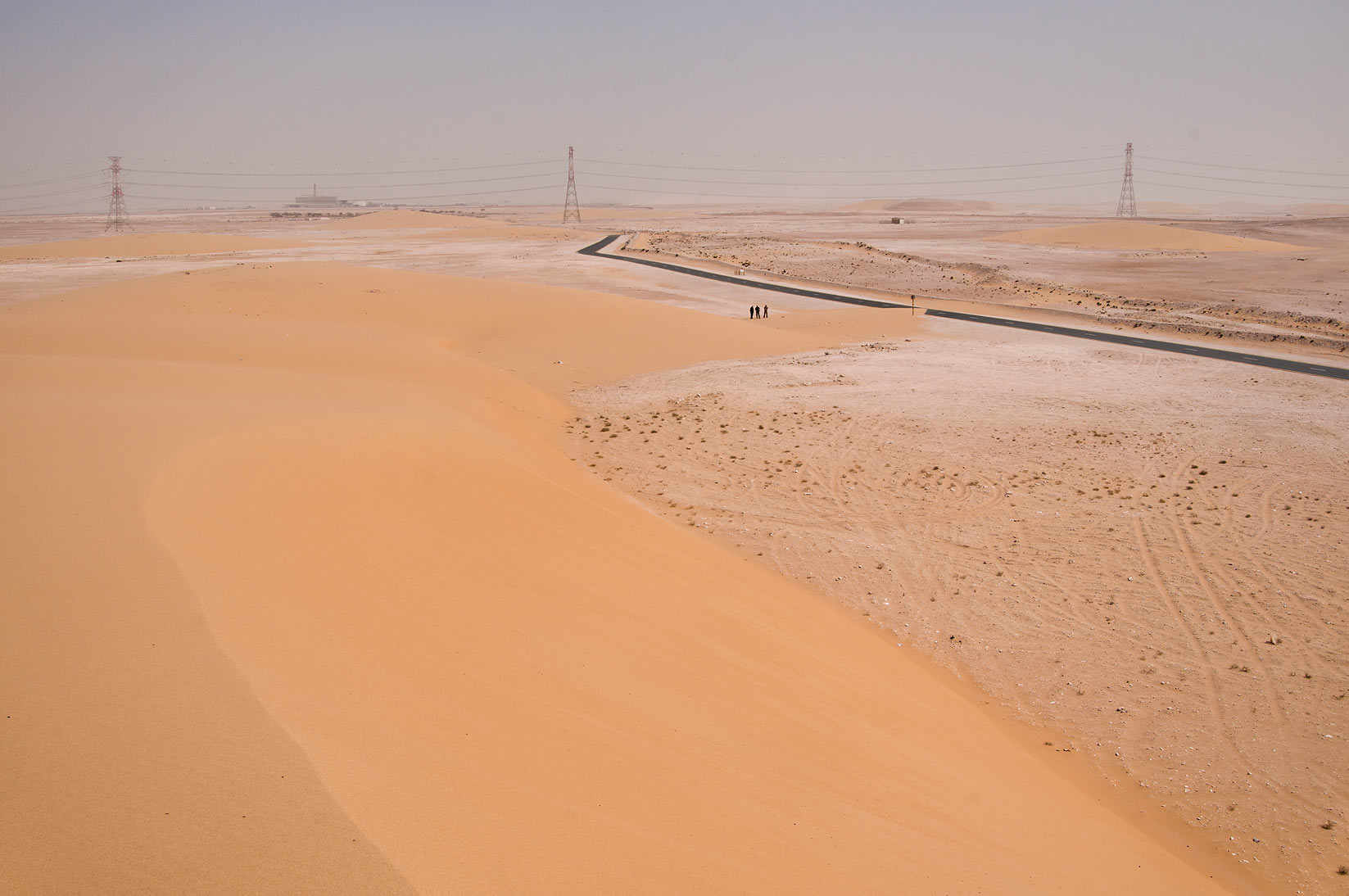 Southern side of Singing Sand Dunes near Mesaieed. Qatar