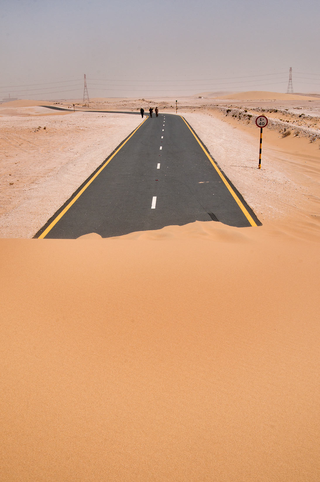 Loop road around Singing Sand Dunes near Mesaieed. Qatar