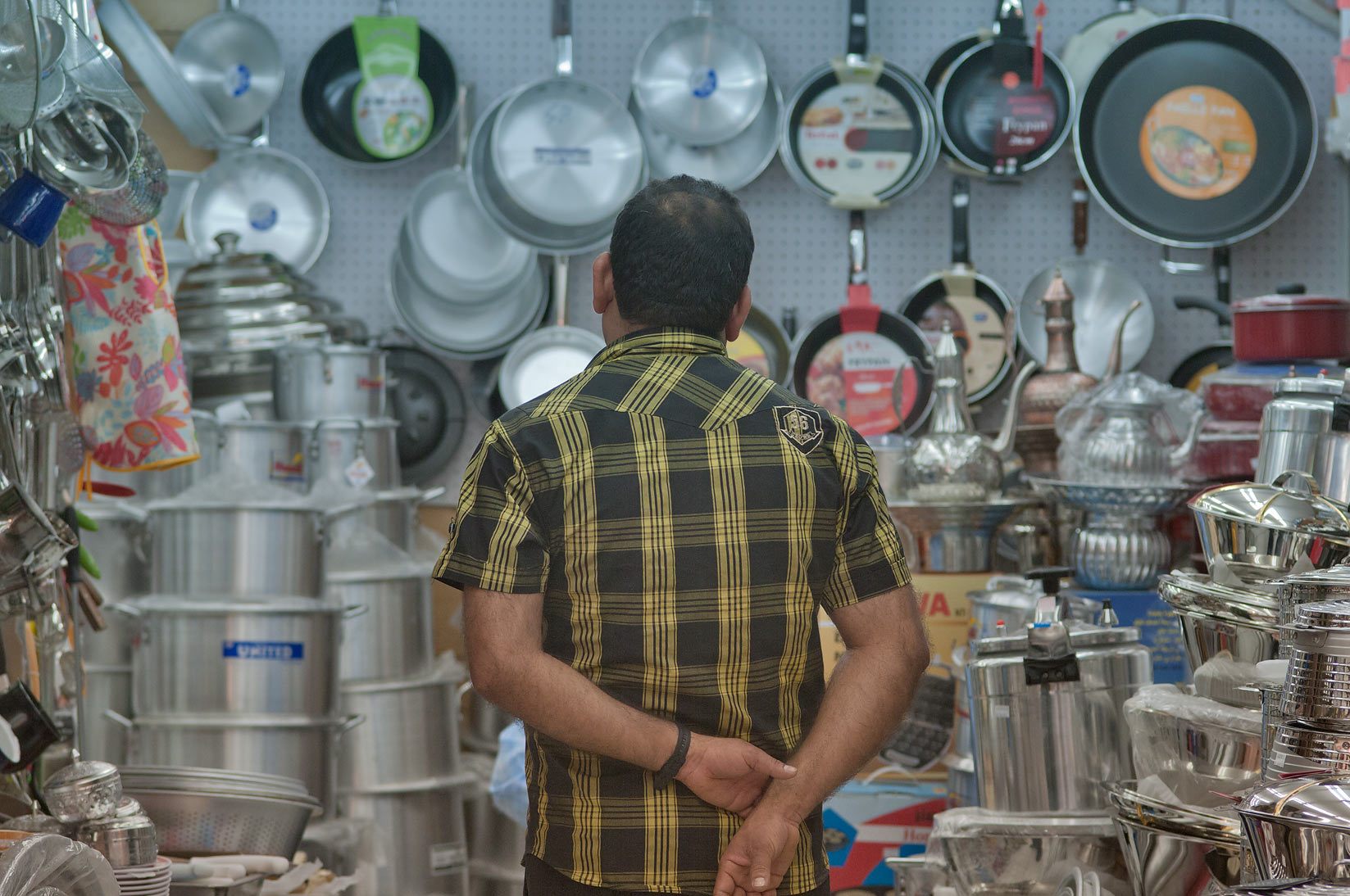 Kitchenware shop in Souq Wakif (Old Market). Doha, Qatar