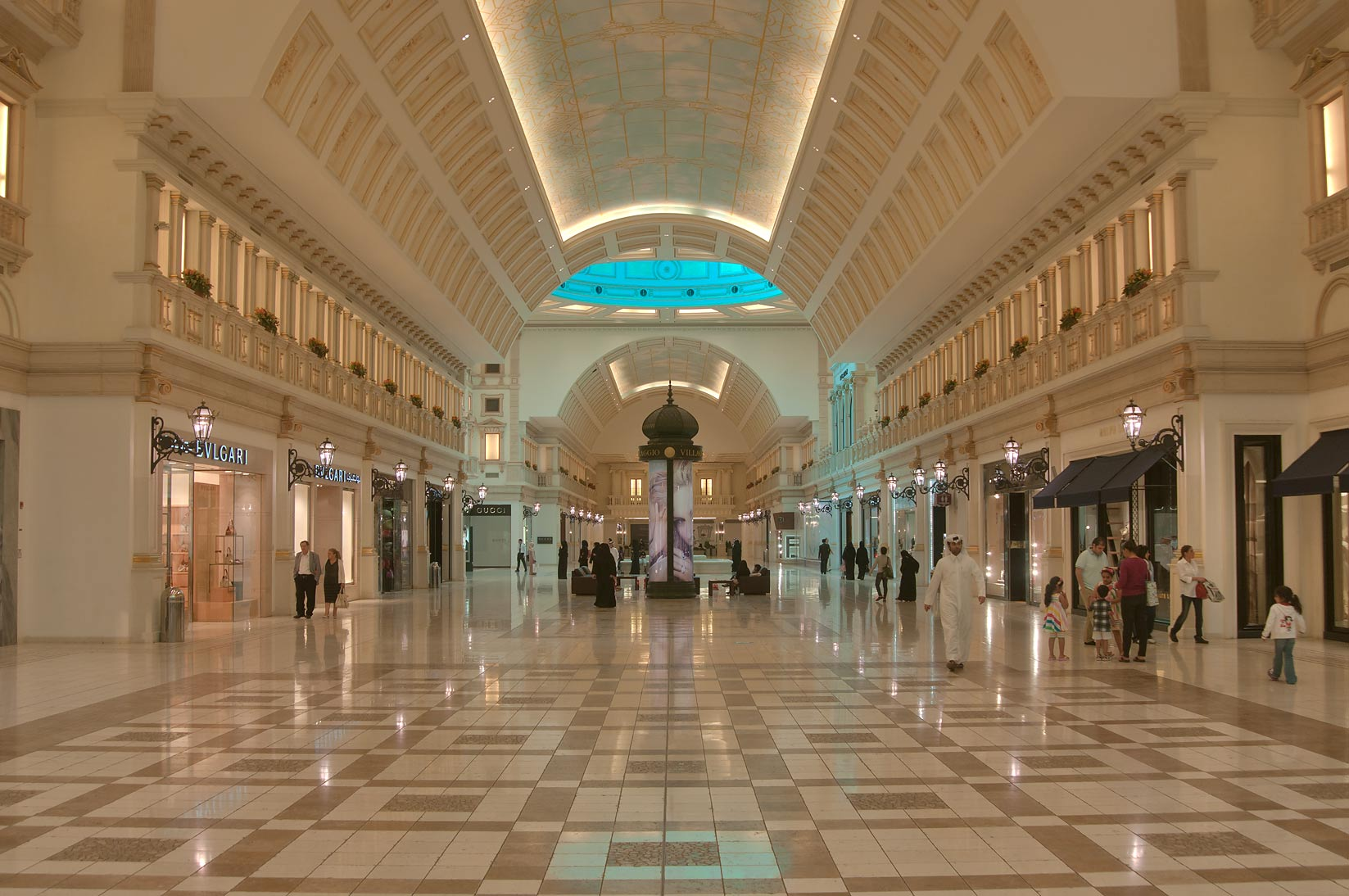 A hall in Villagio Shopping Mall, Aspire Zone. Doha, Qatar