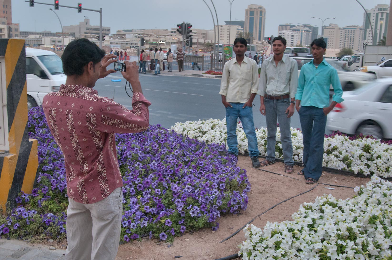 Popular place for migrant workers to take...Al Ghanim on Friday. Doha, Qatar