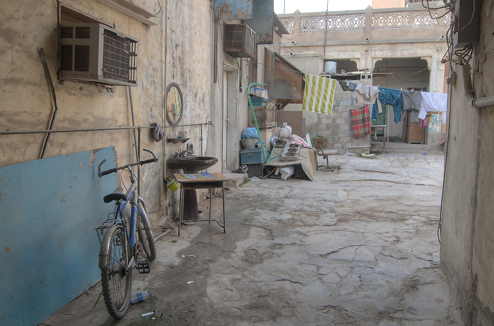 Courtyard in Umm Wishah St. in Musheirib area. Doha, Qatar