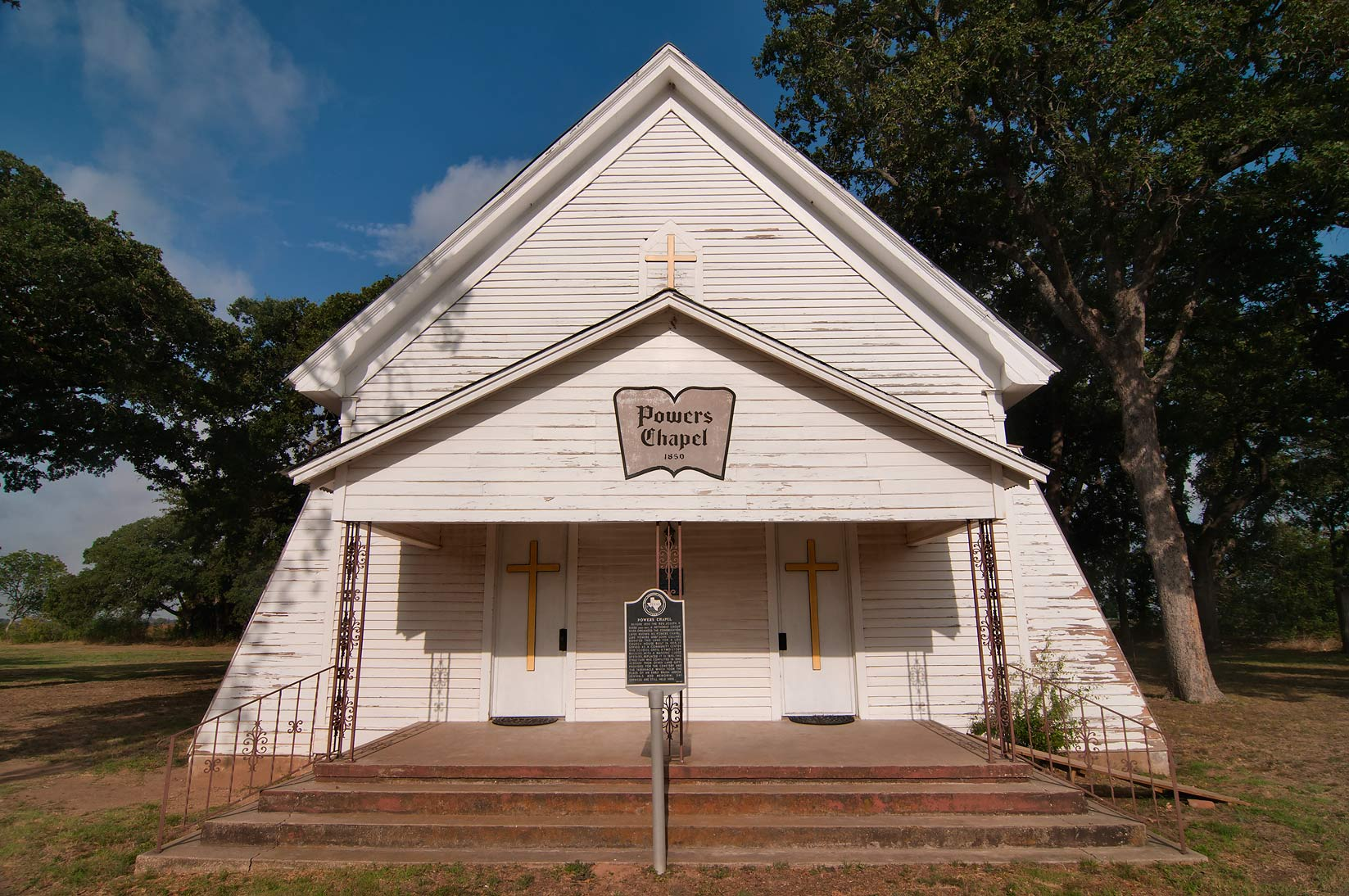 Powers Chapel at FM 2027 near Calvert. Texas