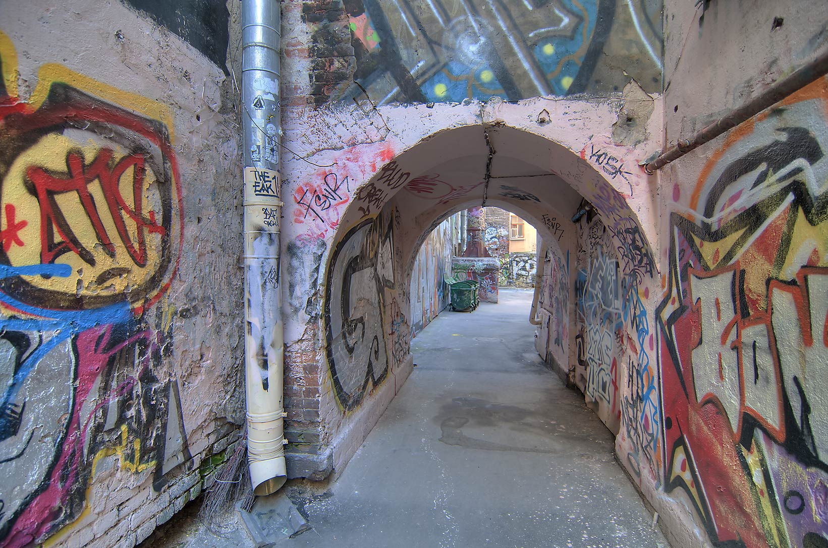 Passage between yards on Liteyny Prospect. St.Petersburg, Russia