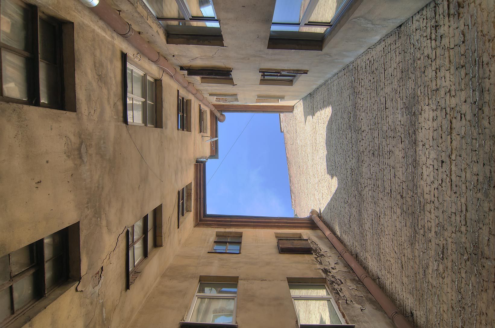 Light well courtyard on Liteyny Prospect. St.Petersburg, Russia
