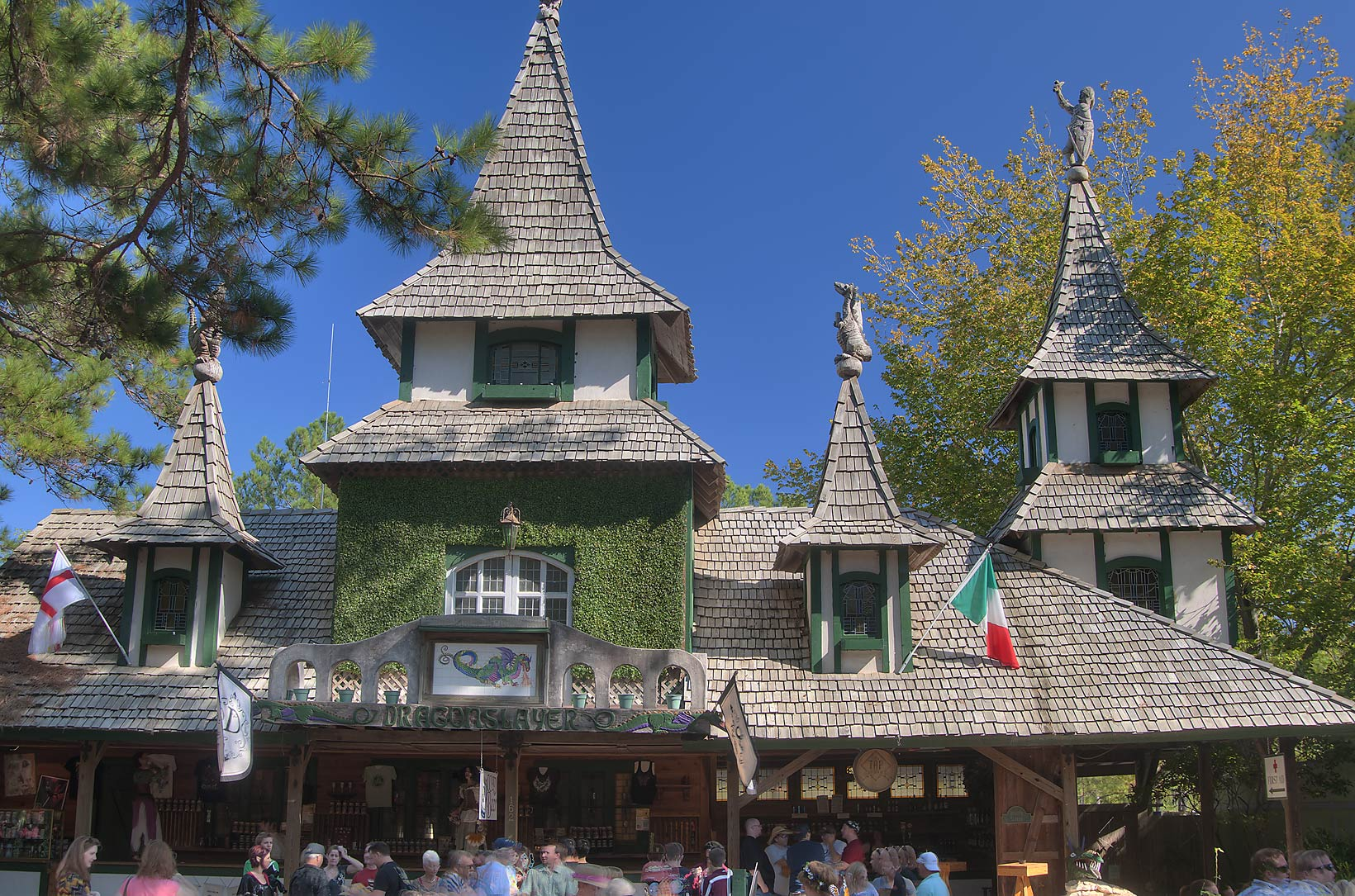 Dragon Slayer House at Texas Renaissance Festival. Plantersville, Texas