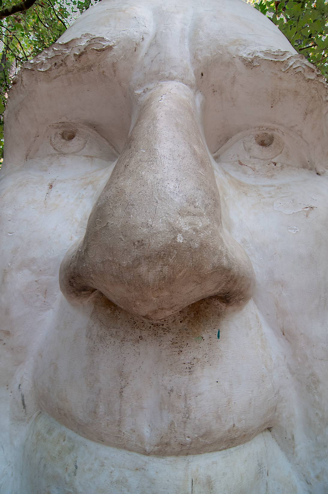 Spare head for a statue of Sam Houston on Highway...in a roadside park. Huntsville, Texas