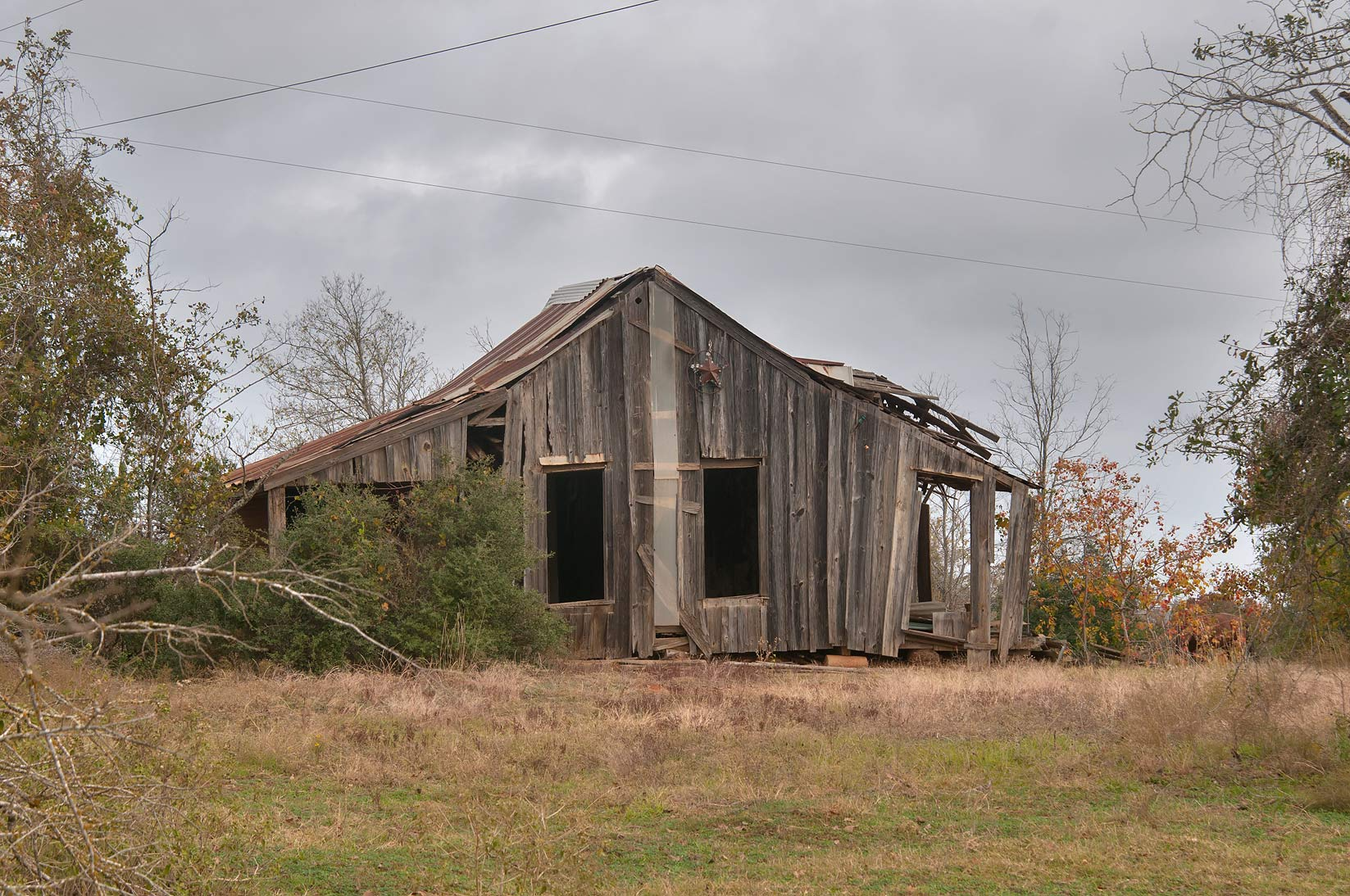College Station-Bryant Station, Texas  - Old barn at Rd. 330 near Milano. Texas