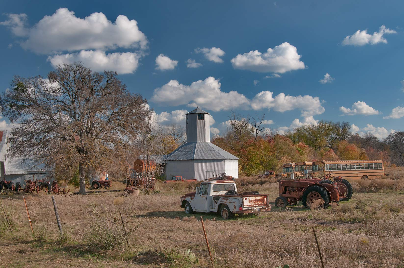 A farm in Sharp, view from Rd. FM 487. Texas