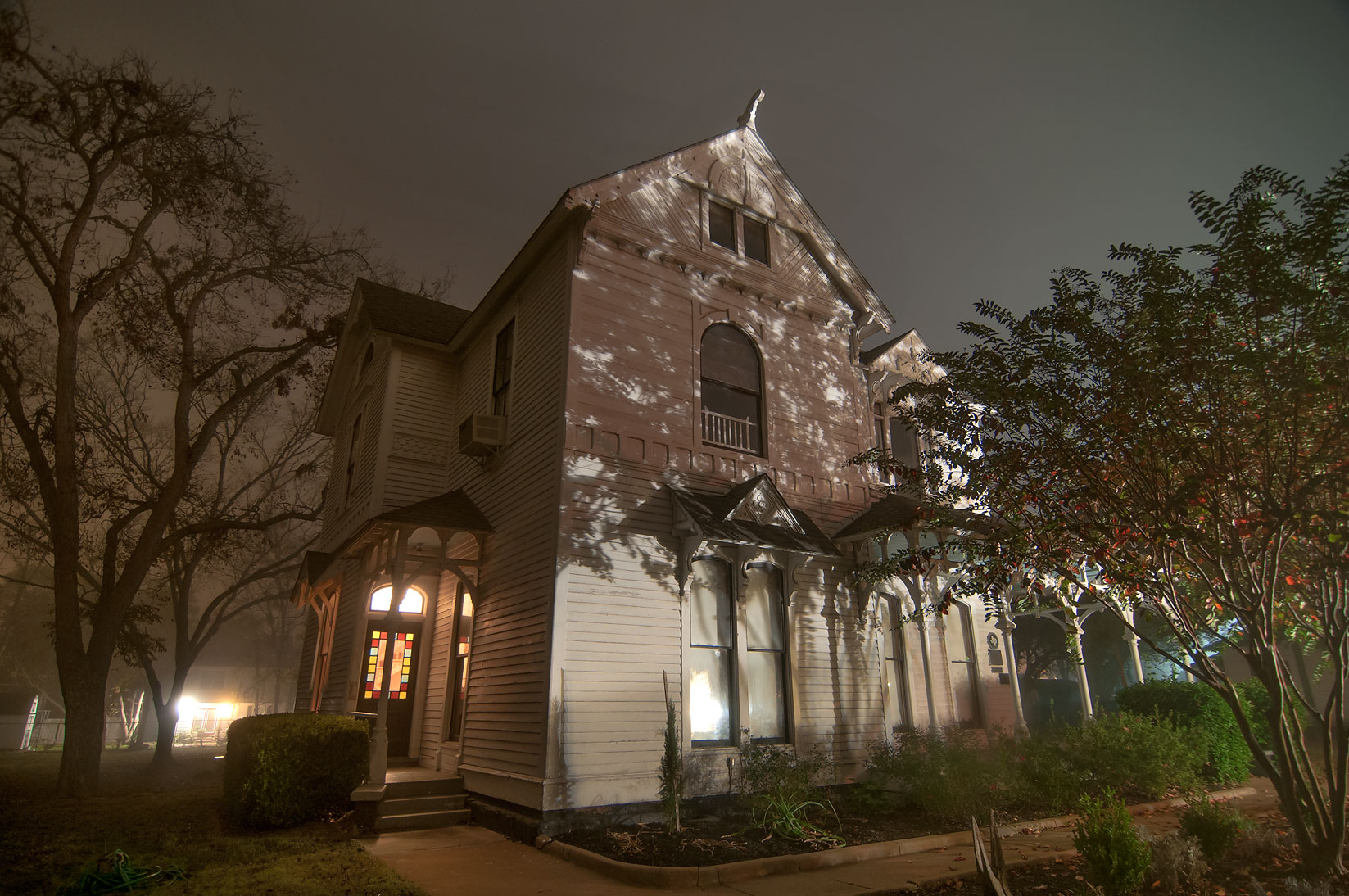 Horlock House History Center at 1215 East Washington St. in mist. Navasota, Texas