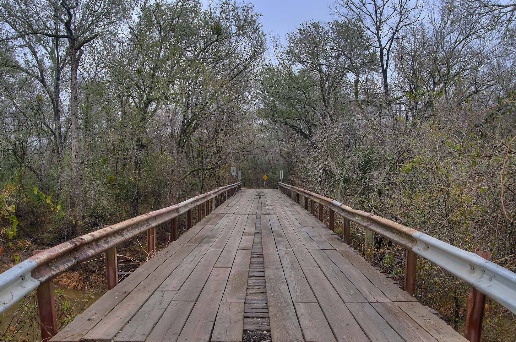 County Rd. 101 bridge across Navasota River east from Bryan. Texas