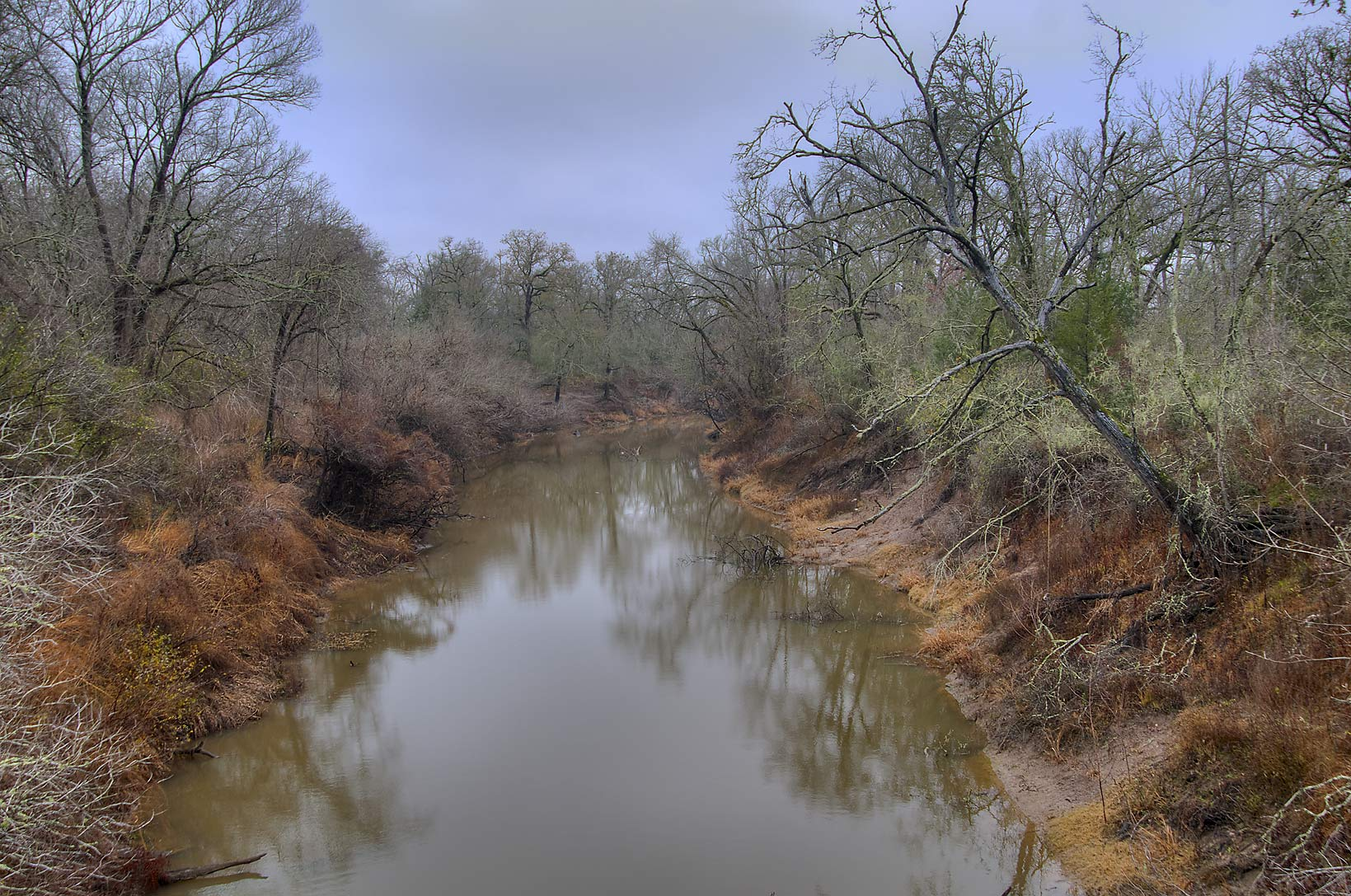 Navasota River from County Rd. 101 east from Bryan. Texas