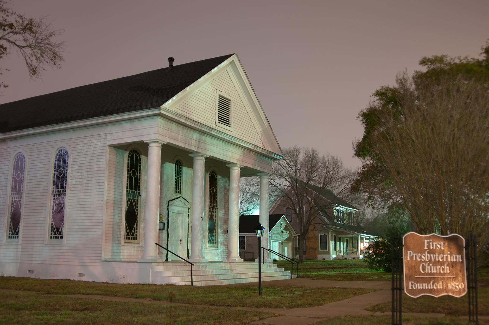 First Presbyterian Church, formerly Cumberland...a corner Beech St.. Calvert, Texas