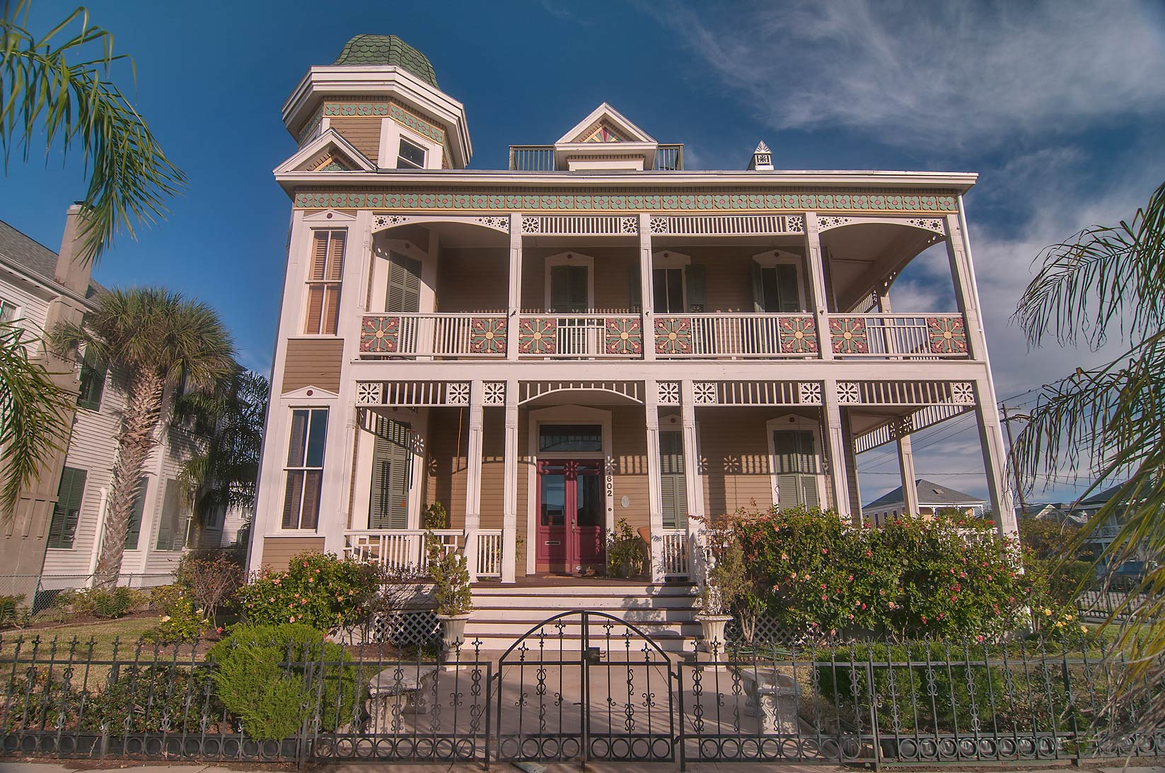 Joel B. Wolfe house (c. 1894) at 1602 Ball St. in...Historic District. Galveston, Texas