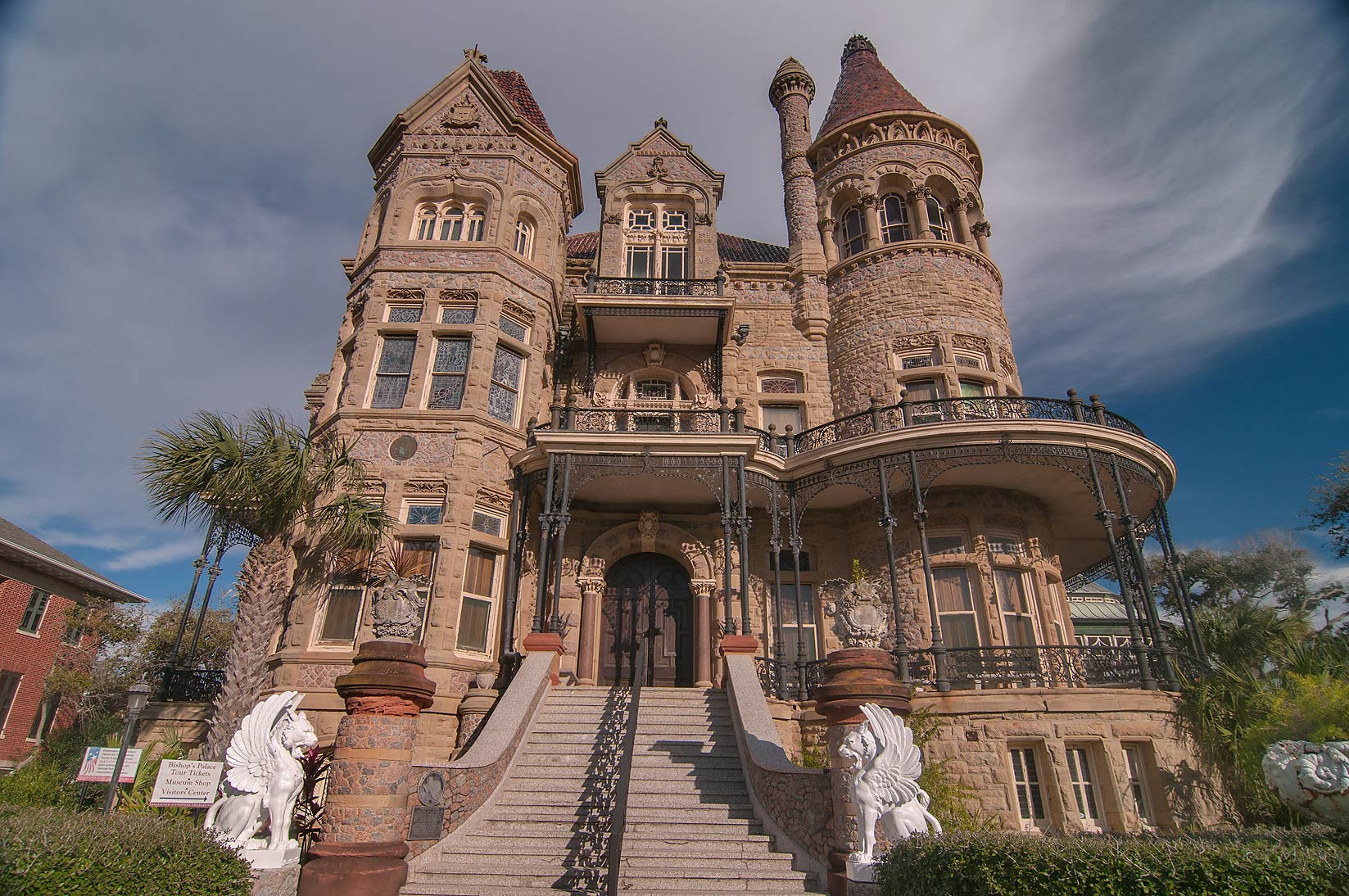 Gresham Residence / Bishop s Palace (1886-93) at...near 14th St.. Galveston, Texas