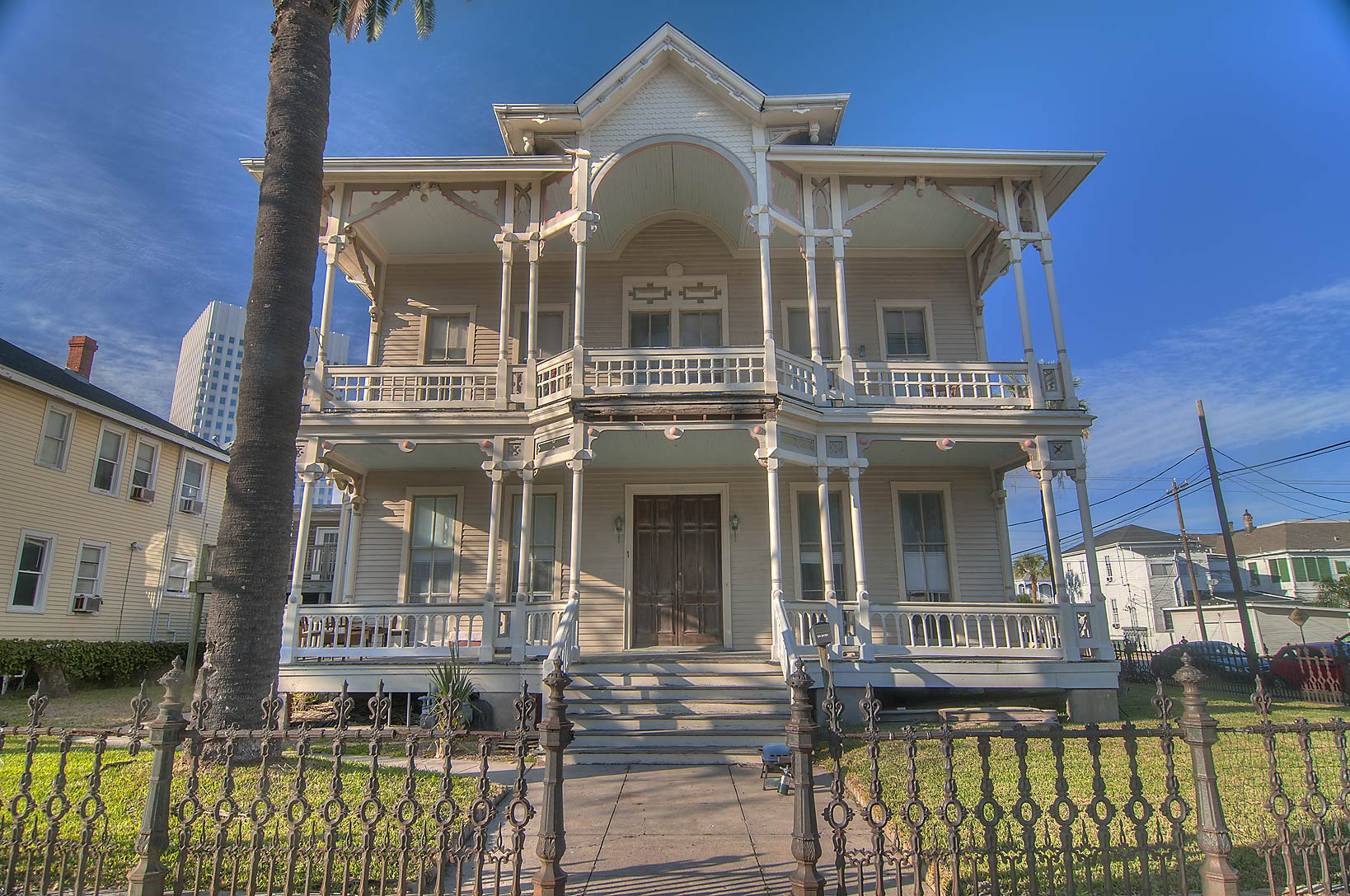 Thomas Goggans House (1886) at 1804 Church St. in...Historic District. Galveston, Texas