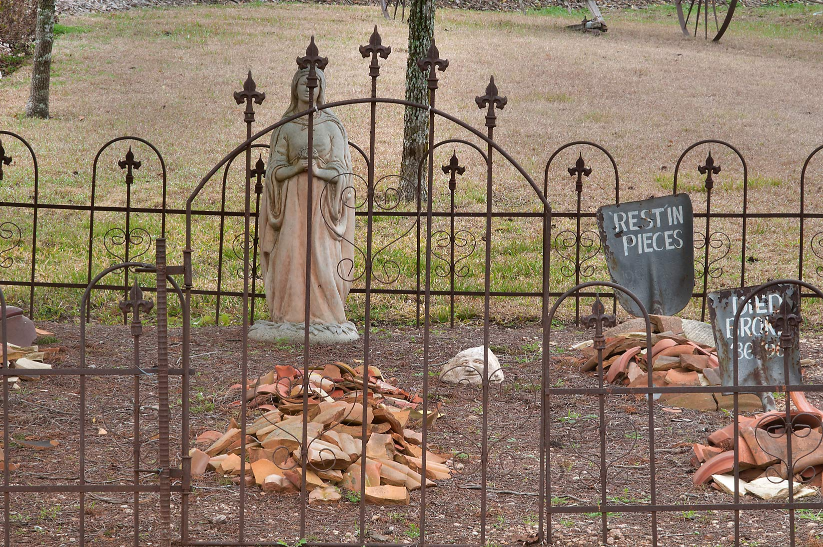 "Graveyard"" in Antique Rose Emporium. Independence, Texas"