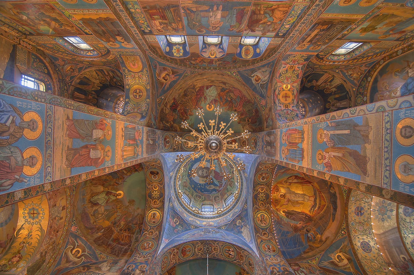 Vaults of Church of Savior on Blood. St.Petersburg, Russia