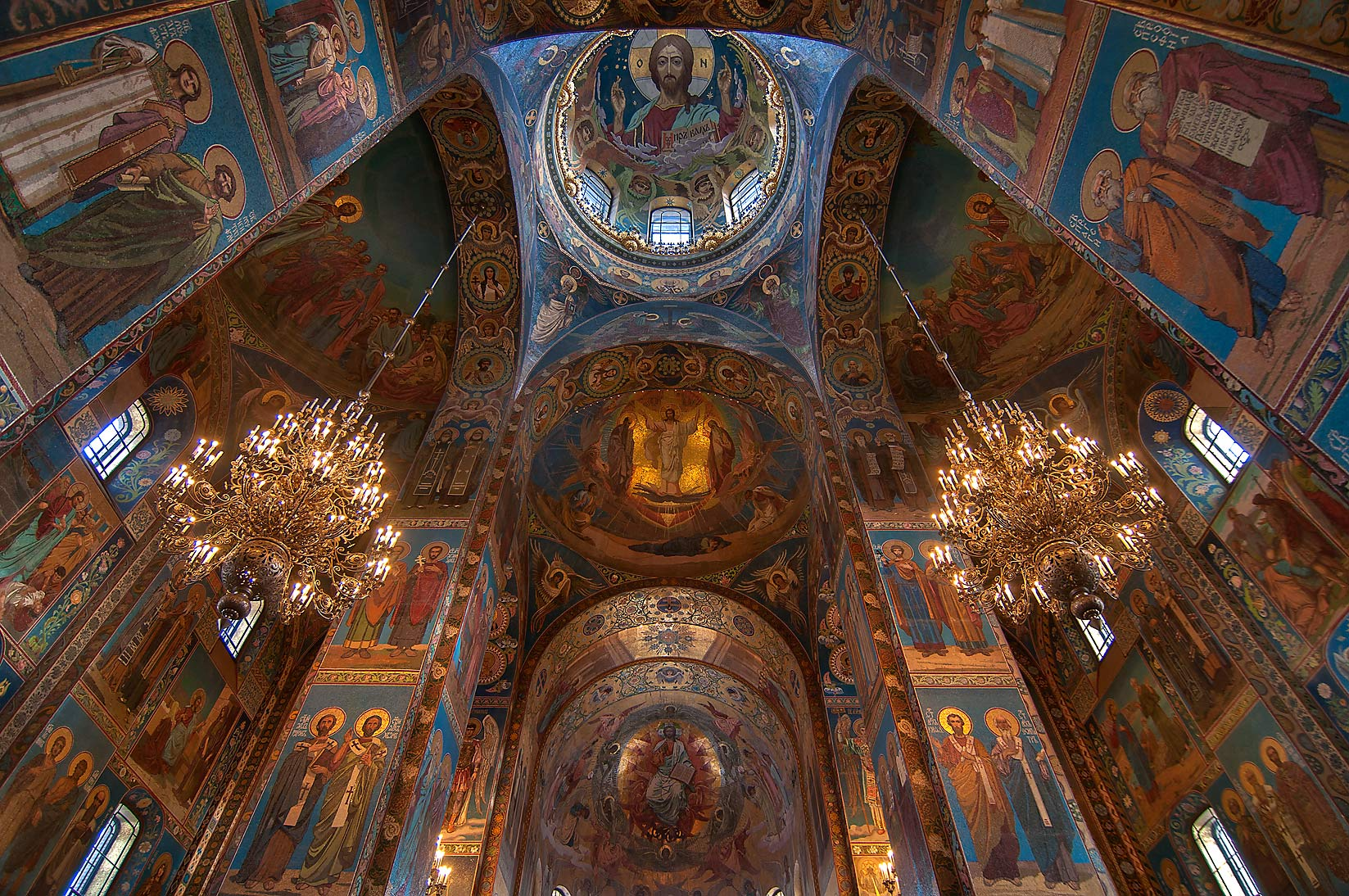 Mosaic of Church of Savior on Blood. St.Petersburg, Russia