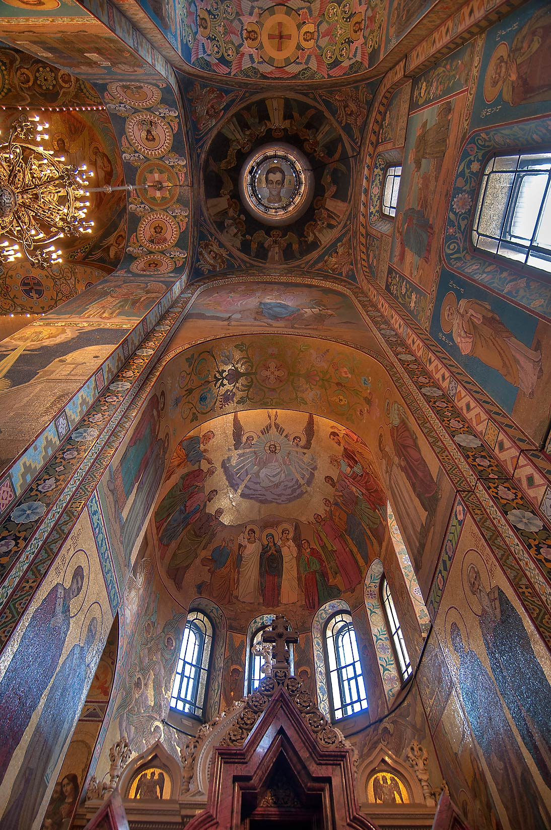 Arches of Church of Savior on Blood. St.Petersburg, Russia