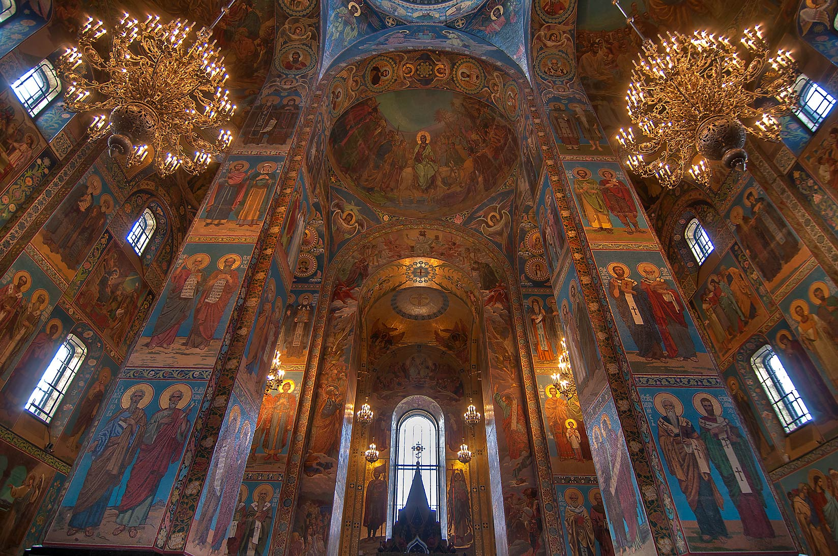 Mosaic decorations of Church of Savior on Blood. St.Petersburg, Russia