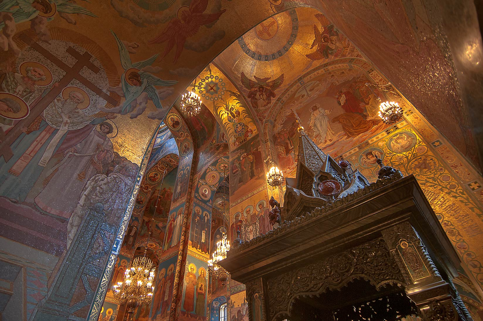 Shrine like structure of Church of Savior on Blood. St.Petersburg, Russia