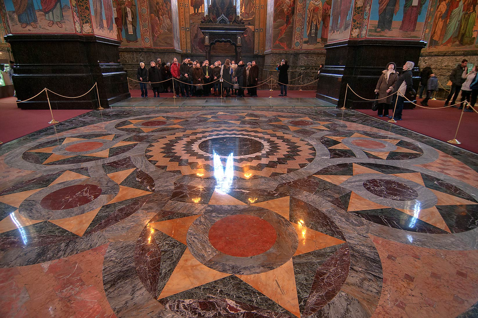Marble floor of Church of Savior on Blood. St.Petersburg, Russia