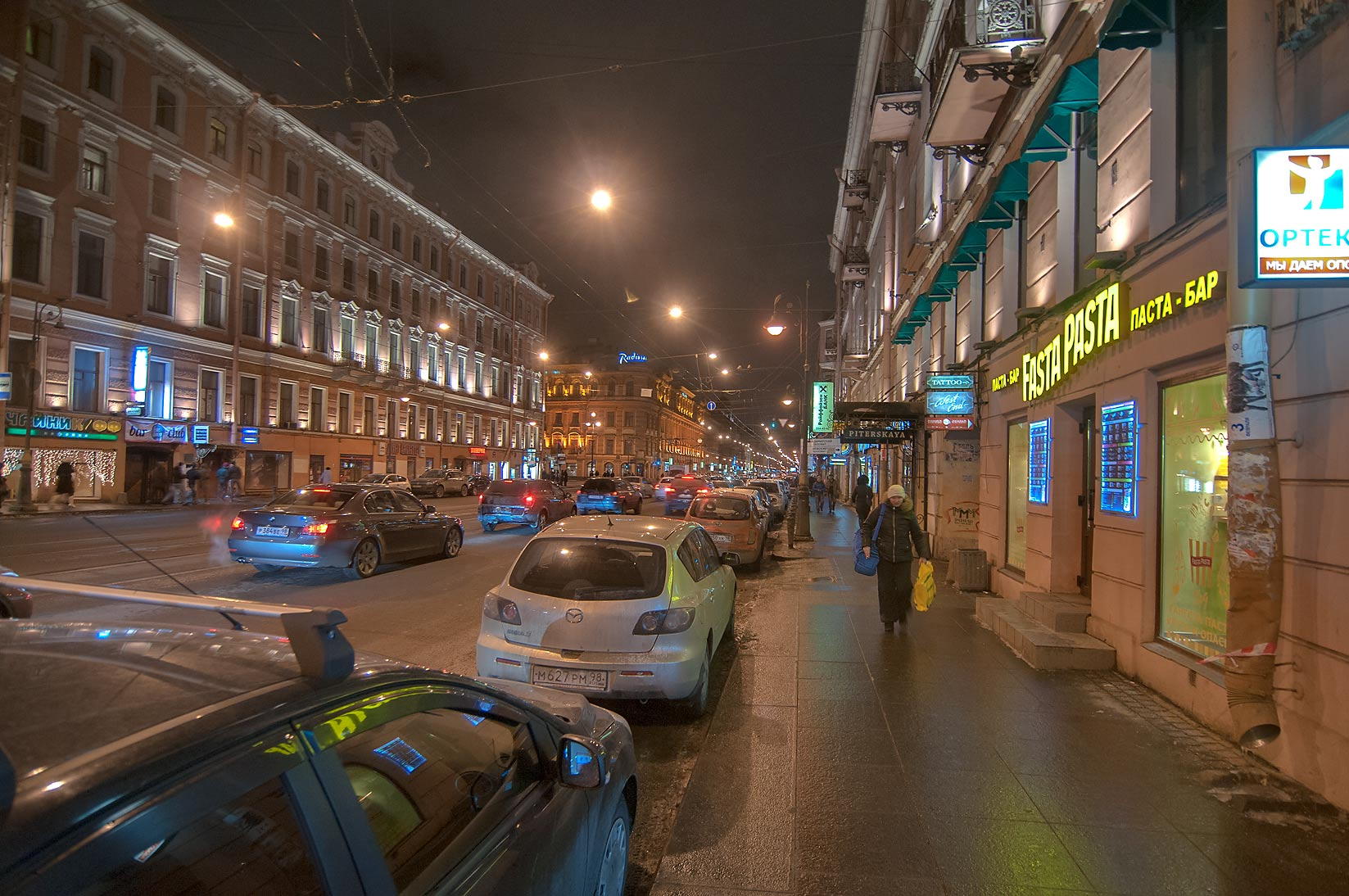 Liteyny Prospect near Nevsky at evening. St.Petersburg, Russia