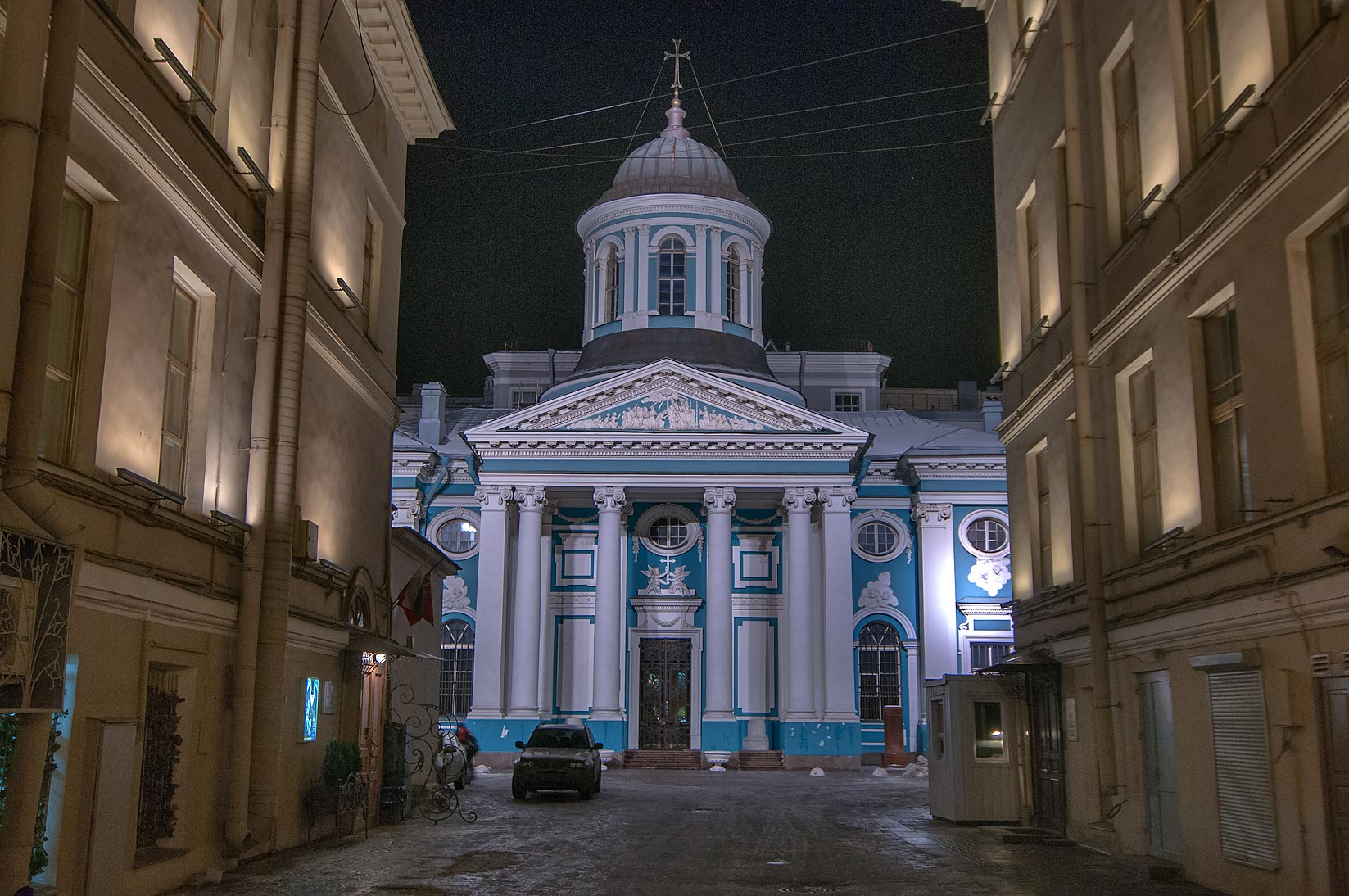 A church on Nevsky Prospect. St.Petersburg, Russia