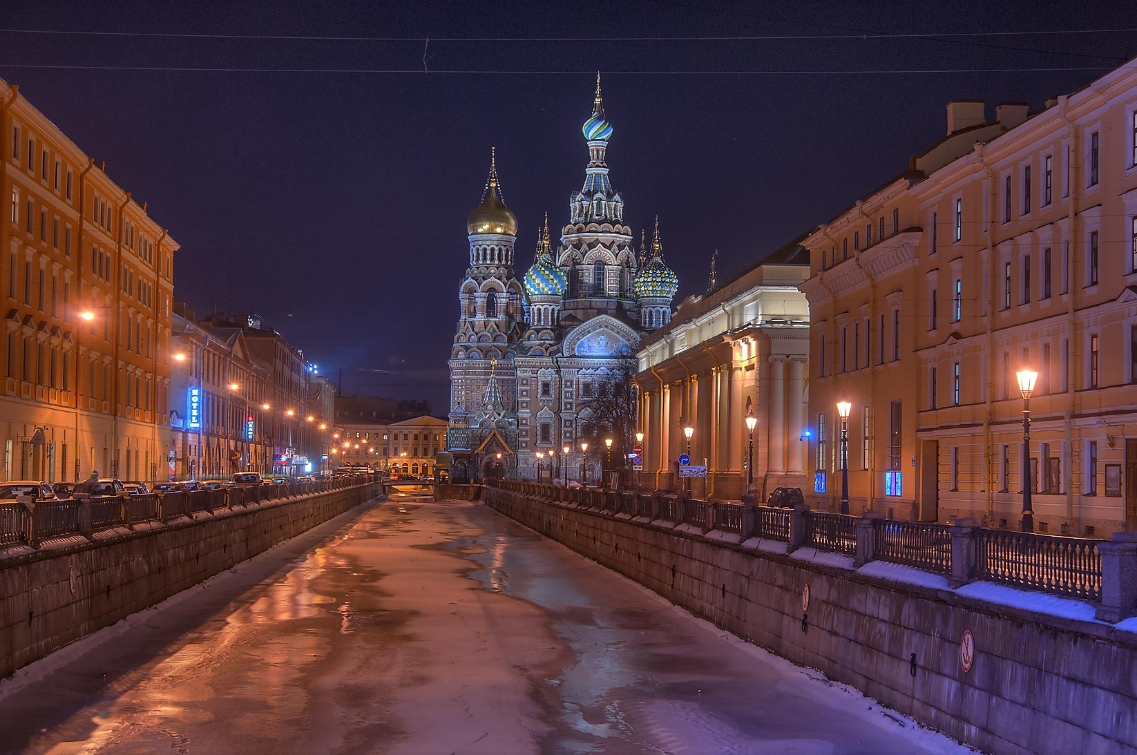 Church of Savior on Blood from Griboedova Canal. St.Petersburg, Russia