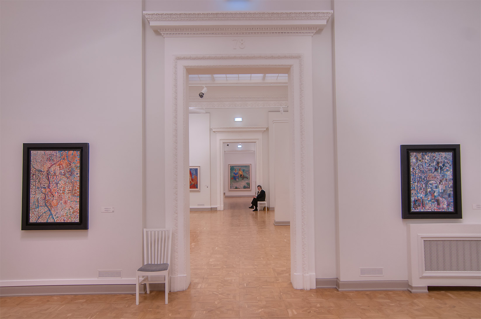 Corridor of Benois Wing of Russian Museum. St.Petersburg, Russia