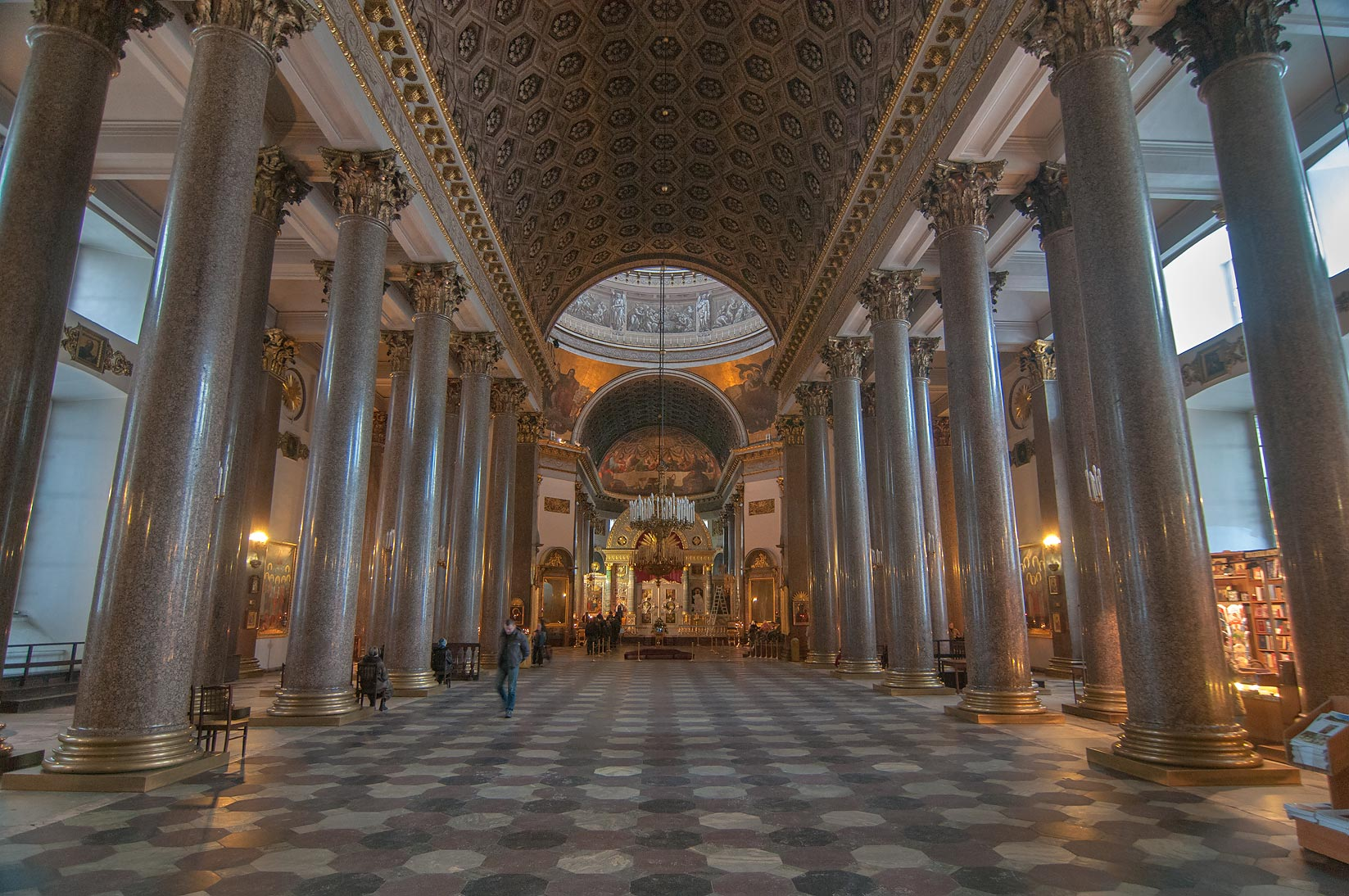 Interior of Kazansky Sobor (Cathedral of Our Lady of Kazan). St.Petersburg, Russia