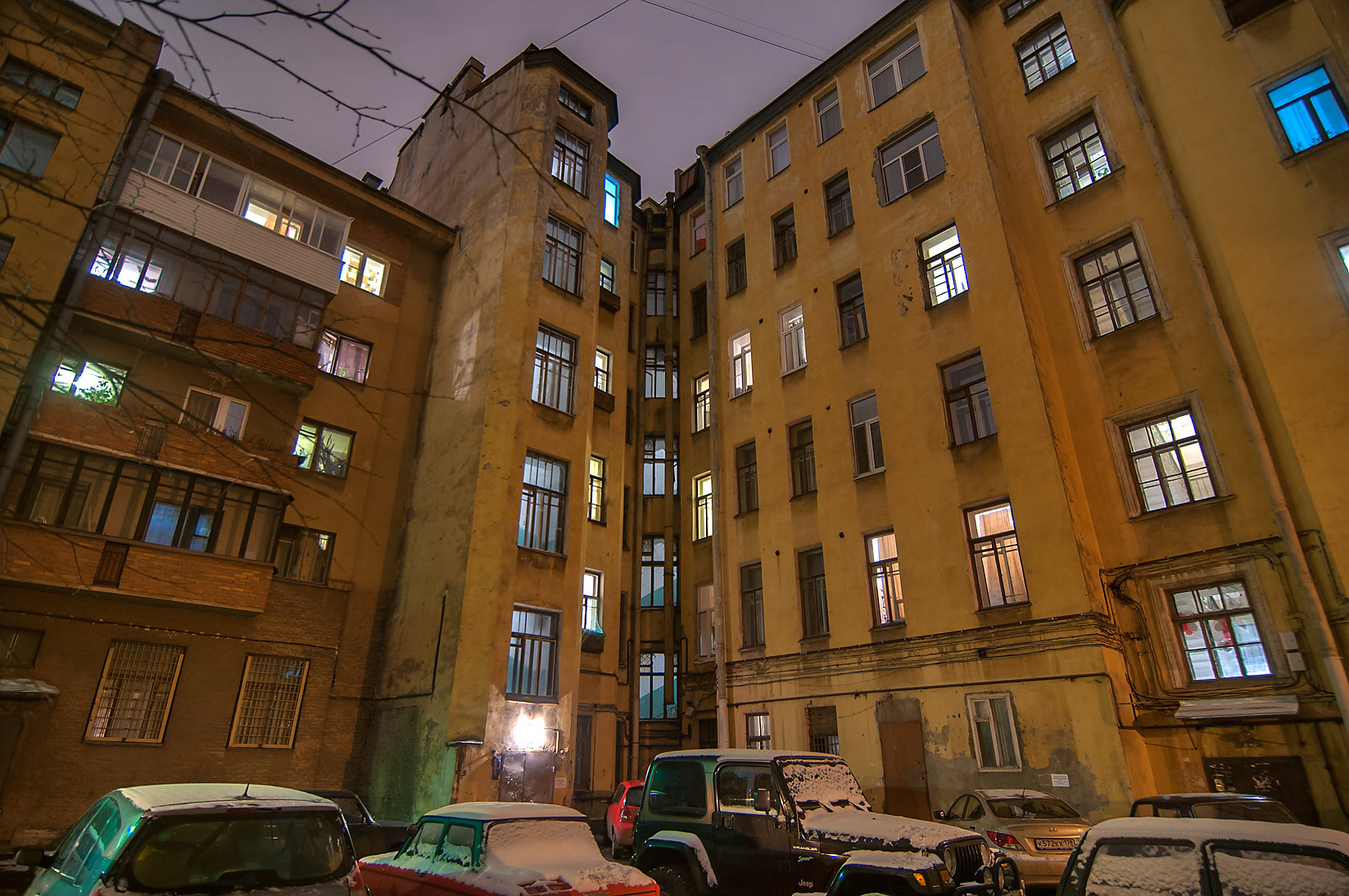 Old yard in Sementsy area. St.Petersburg, Russia