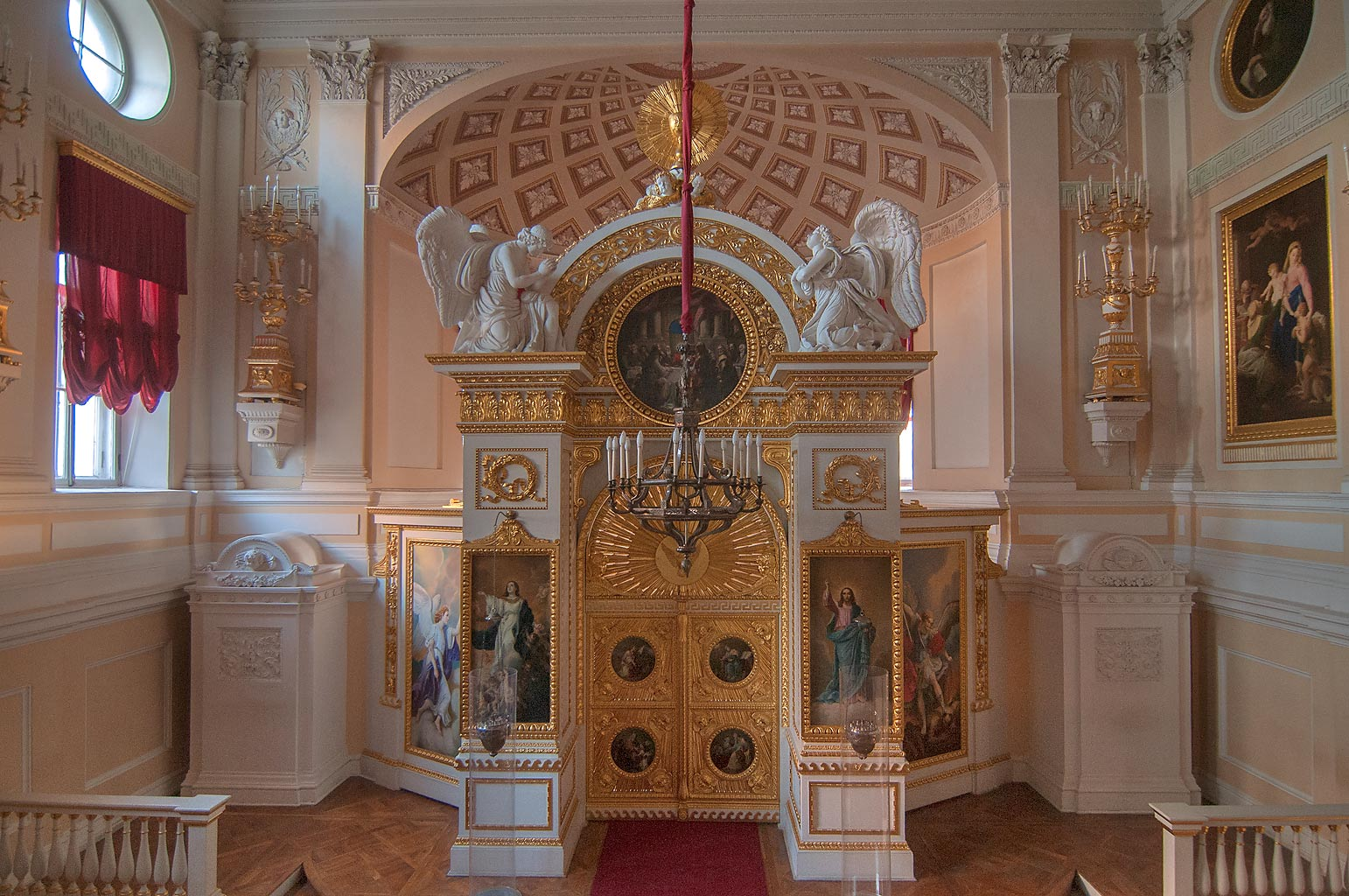 A church in Pavlovsky Palace. Pavlovsk, a suburb of St.Petersburg, Russia