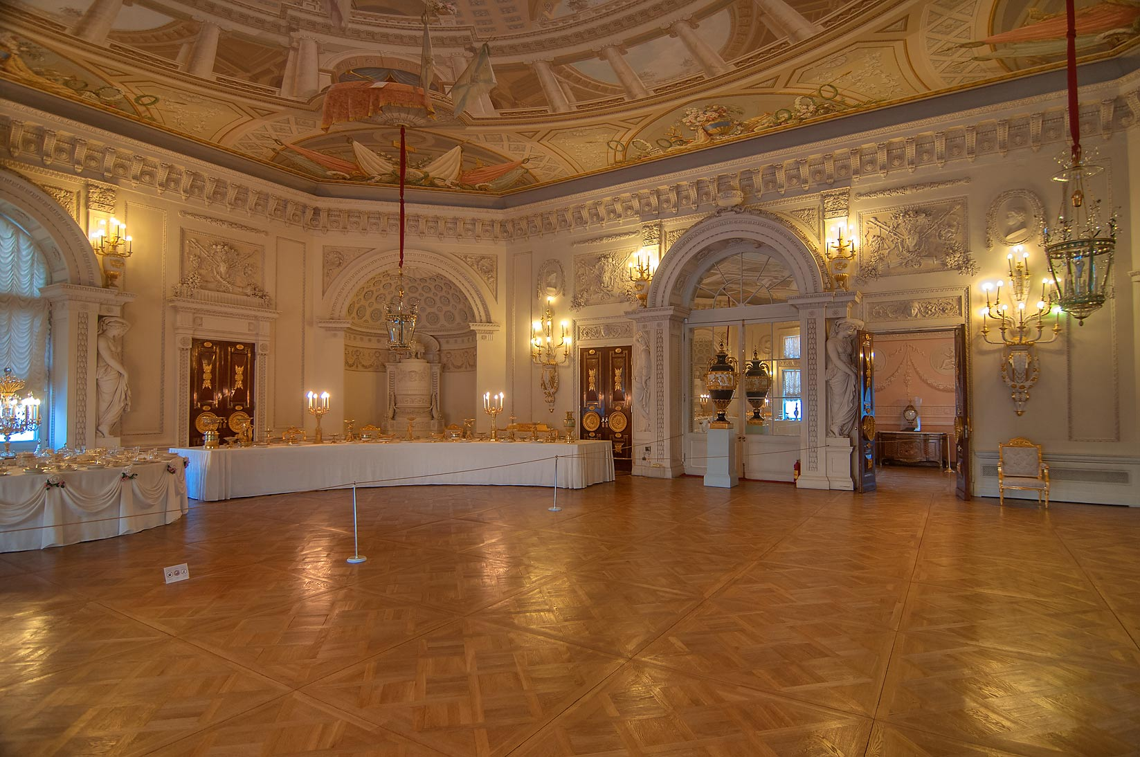 A dining hall in Pavlovsky Palace. Pavlovsk, a suburb of St.Petersburg, Russia