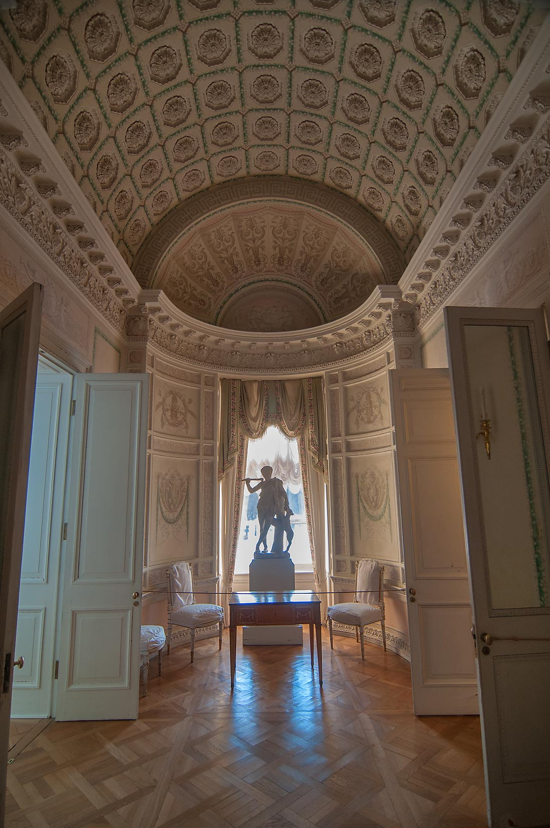 Corner room in Pavlovsky Palace. Pavlovsk, a suburb of St.Petersburg, Russia